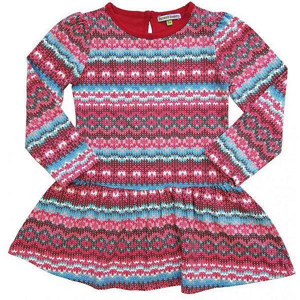 Комплект для девочки: платье  и леггинсы Sweet BerryКомплекты<br>Комплект трикотажный для девочки, платье из принтованной ткани (имитация жаккардовой вязки), детали на платье и базовые леггинсы из однотонной ткани - компаньона.<br>Состав:<br>95% хлопок, 5% эластан<br>Ширина мм: 236; Глубина мм: 16; Высота мм: 184; Вес г: 177; Цвет: красный; Возраст от месяцев: 24; Возраст до месяцев: 36; Пол: Женский; Возраст: Детский; Размер: 98,110,128,116,122,104; SKU: 4272903;