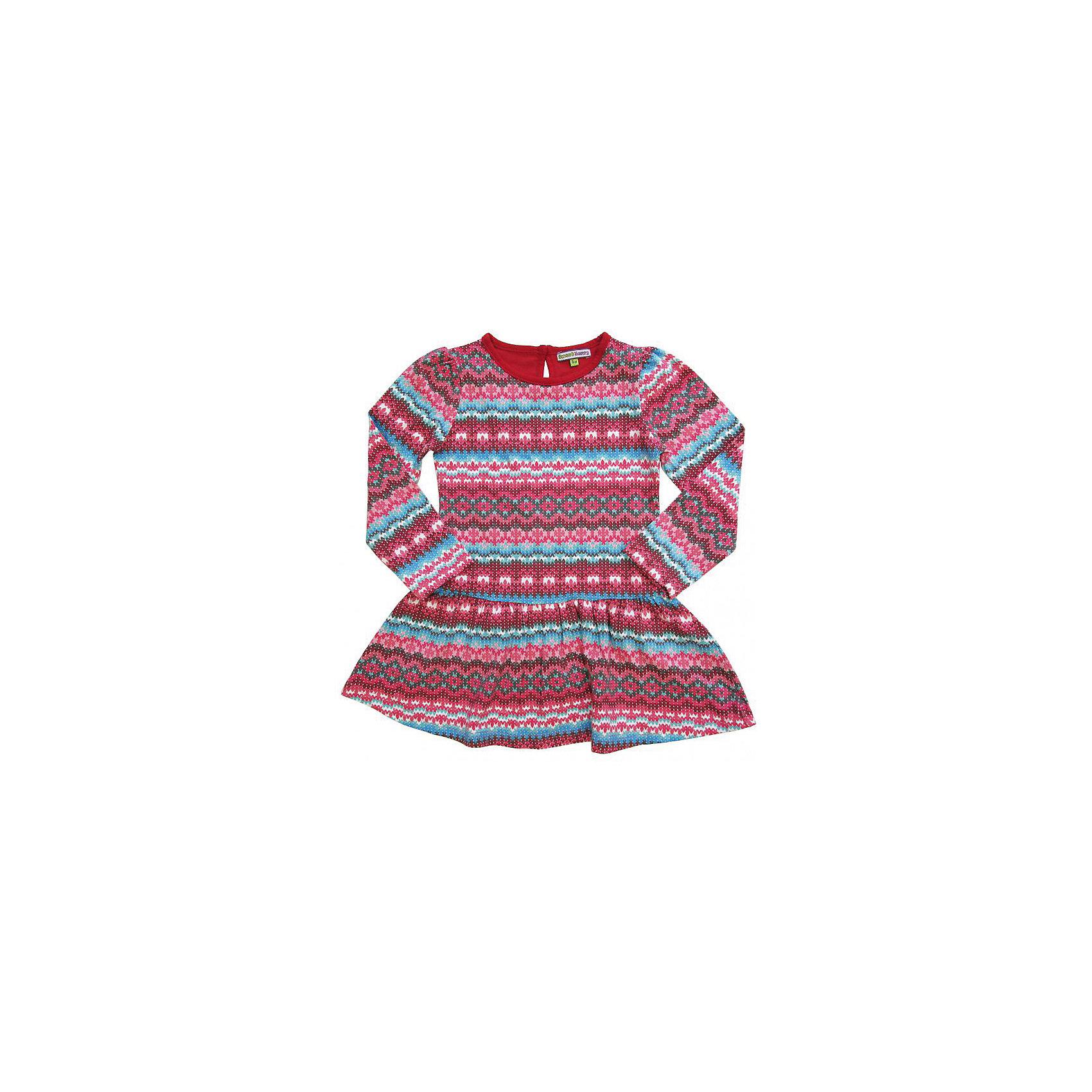 Комплект для девочки: платье  и леггинсы Sweet BerryКомплекты<br>Комплект трикотажный для девочки, платье из принтованной ткани (имитация жаккардовой вязки), детали на платье и базовые леггинсы из однотонной ткани - компаньона.<br>Состав:<br>95% хлопок, 5% эластан<br><br>Ширина мм: 236<br>Глубина мм: 16<br>Высота мм: 184<br>Вес г: 177<br>Цвет: красный<br>Возраст от месяцев: 24<br>Возраст до месяцев: 36<br>Пол: Женский<br>Возраст: Детский<br>Размер: 98,116,110,128,104,122<br>SKU: 4272903