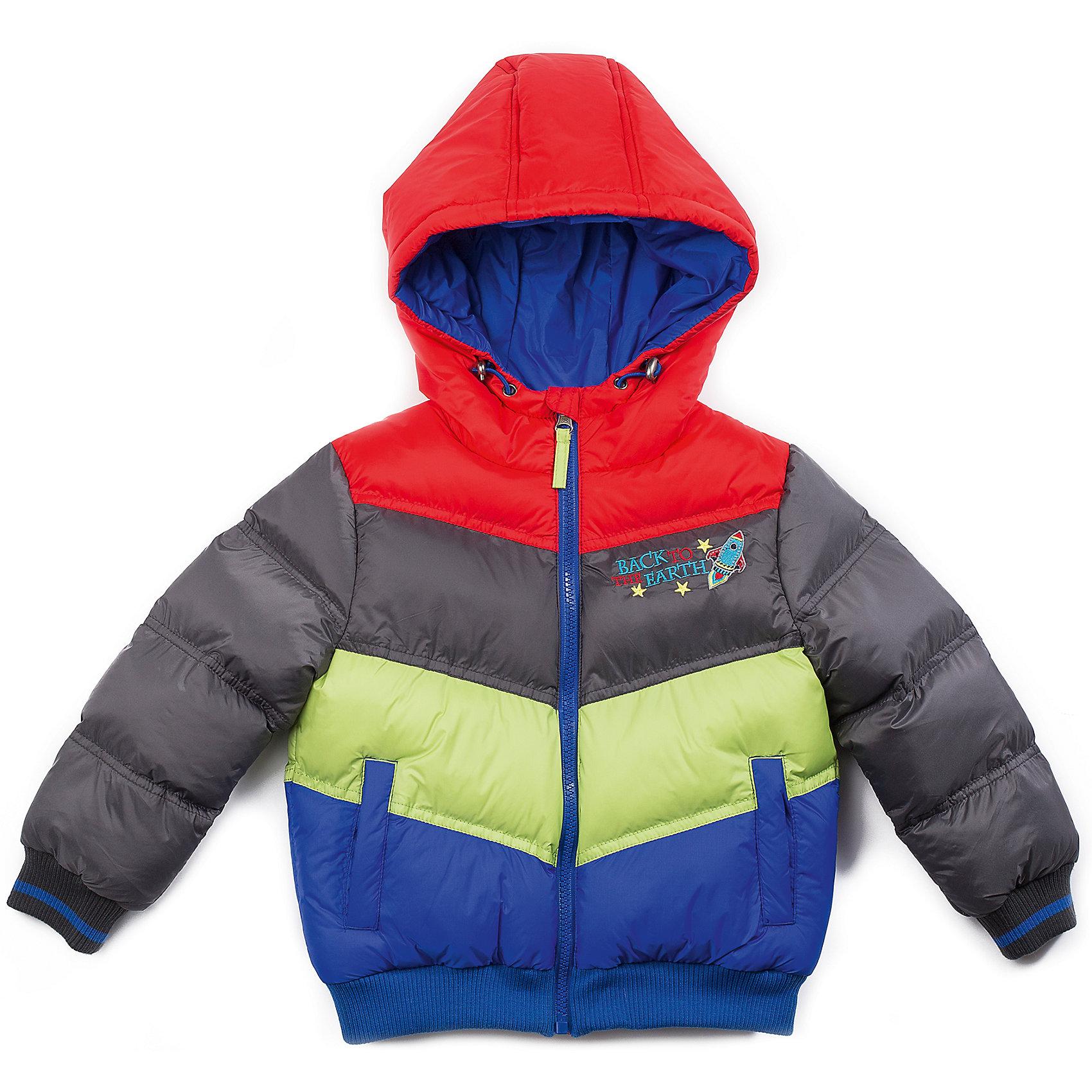 Куртка для мальчика Sweet BerryВерхняя одежда<br>Модная яркая куртка для мальчика, на контрастной синей подкладке из флиса. С удобными карманами спереди и стильной вышивкой.<br>Состав:<br>Верх: 100% нейлон, Подкладка: 100%полиэстер, Наполнитель: 100%полиэстер<br><br>Ширина мм: 356<br>Глубина мм: 10<br>Высота мм: 245<br>Вес г: 519<br>Цвет: разноцветный<br>Возраст от месяцев: 12<br>Возраст до месяцев: 18<br>Пол: Мужской<br>Возраст: Детский<br>Размер: 86,80,98,92<br>SKU: 4273192