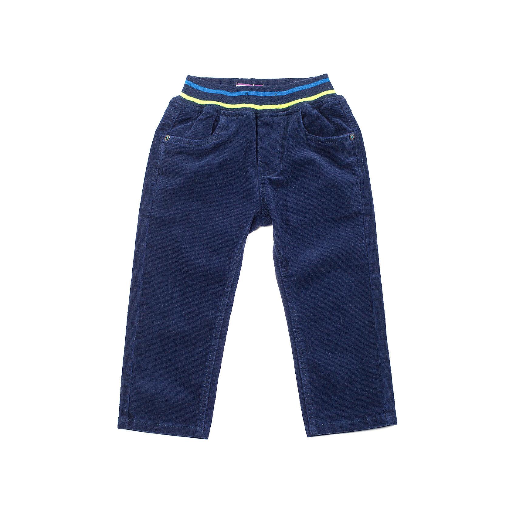 Брюки для мальчика Sweet BerryБрюки вельветовые на мальчика, удобный пояс на рибе с цветными полосками, дополнительно может затягиваться шнурками.<br>Состав:<br>98% хлопок, 2% эластан<br><br>Ширина мм: 215<br>Глубина мм: 88<br>Высота мм: 191<br>Вес г: 336<br>Цвет: синий<br>Возраст от месяцев: 9<br>Возраст до месяцев: 12<br>Пол: Мужской<br>Возраст: Детский<br>Размер: 80,86,92,98<br>SKU: 4273232