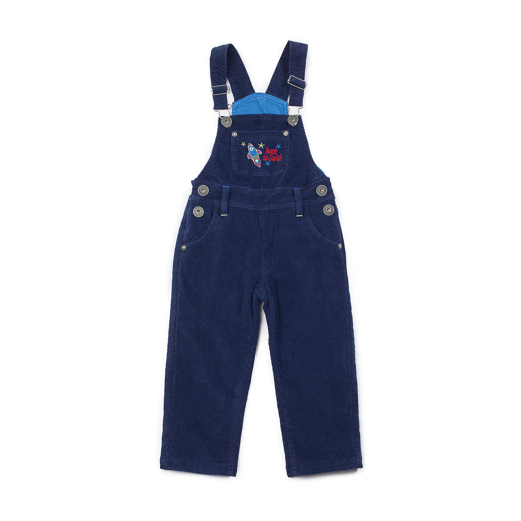 Полукомбинезон для мальчика Sweet BerryМодный вельветовый полукомбинезон для мальчика, декорирован вышивкой на переднем кармане.<br>Состав:<br>Верх: 98% хлопок, 2% эластан, Подкладка: 100% хлопок<br><br>Ширина мм: 215<br>Глубина мм: 88<br>Высота мм: 191<br>Вес г: 336<br>Цвет: синий<br>Возраст от месяцев: 9<br>Возраст до месяцев: 12<br>Пол: Мужской<br>Возраст: Детский<br>Размер: 80,92,86,98<br>SKU: 4273237