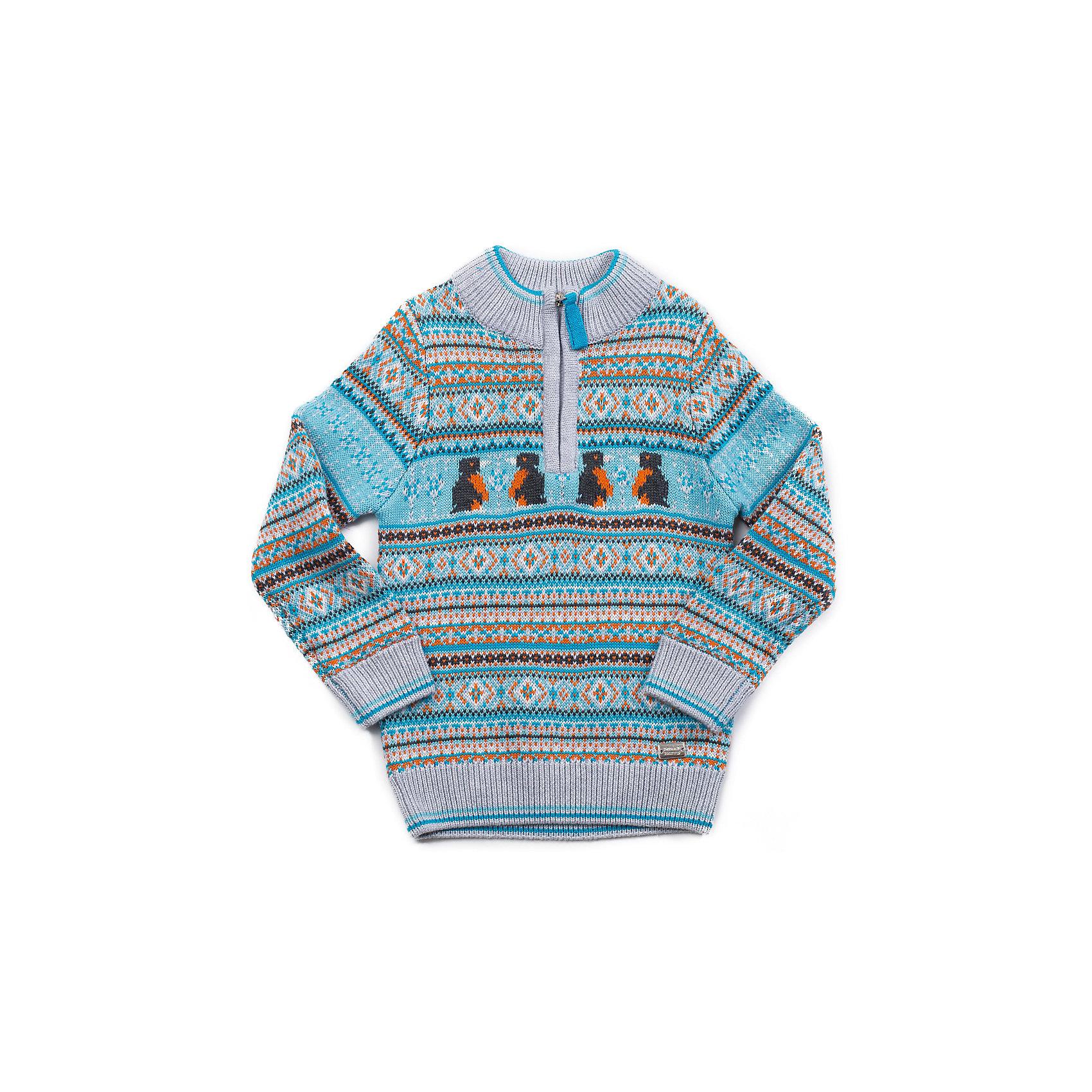 Свитер для мальчика Sweet BerryСвитер для мальчика с молнией по горловине для комфортного одевания. Жаккардовый рисунок с милыми пингвинами.<br>Состав:<br>60% хлопок, 40% акрил<br><br>Ширина мм: 190<br>Глубина мм: 74<br>Высота мм: 229<br>Вес г: 236<br>Цвет: разноцветный<br>Возраст от месяцев: 9<br>Возраст до месяцев: 12<br>Пол: Мужской<br>Возраст: Детский<br>Размер: 92,86,98,80<br>SKU: 4273277