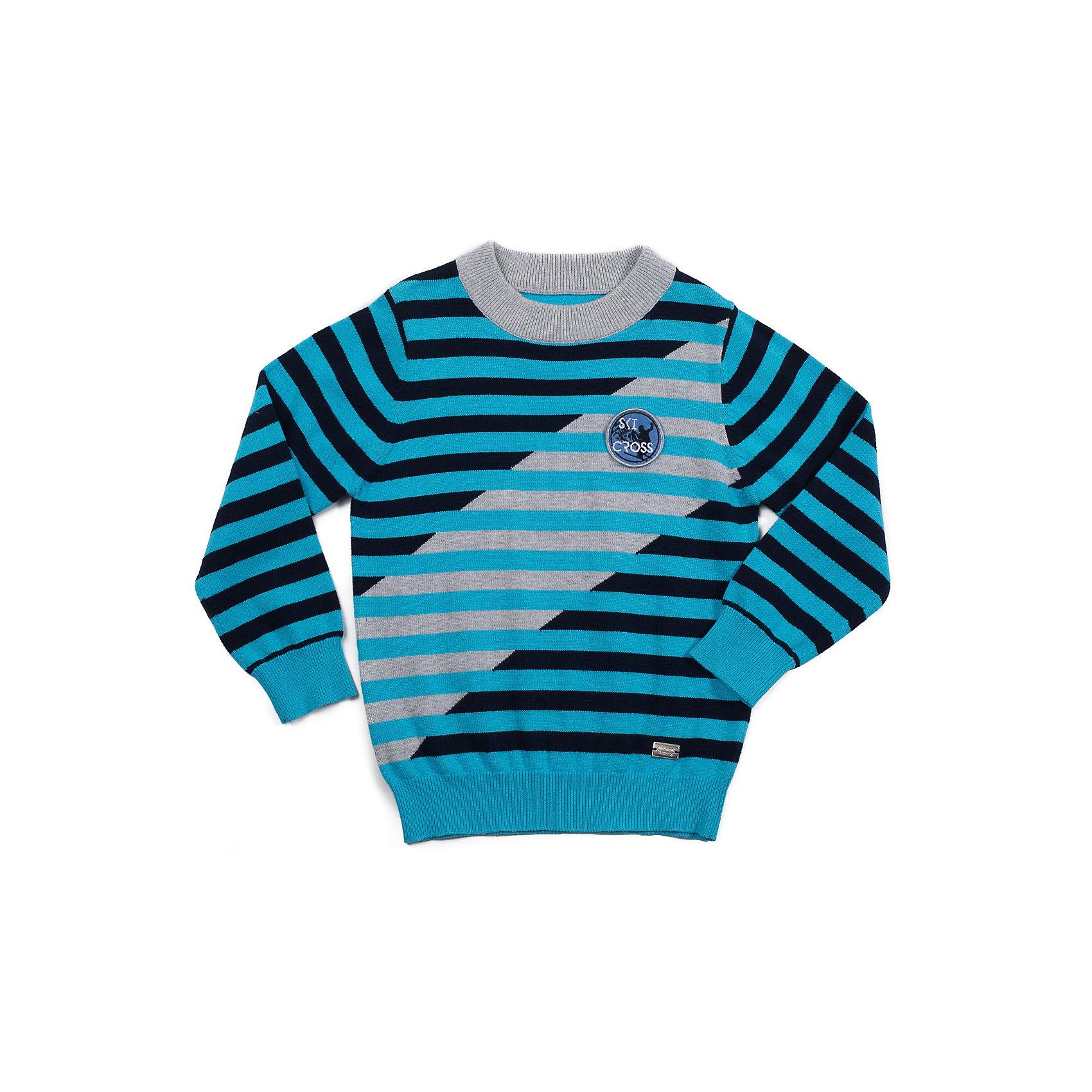 Свитер для мальчика Sweet BerryСвитера и кардиганы<br>Полосатый свитер украшенный шевроном.<br>Состав:<br>100% хлопок<br><br>Ширина мм: 190<br>Глубина мм: 74<br>Высота мм: 229<br>Вес г: 236<br>Цвет: разноцветный<br>Возраст от месяцев: 36<br>Возраст до месяцев: 48<br>Пол: Мужской<br>Возраст: Детский<br>Размер: 104,98,122,128,116,110<br>SKU: 4273452