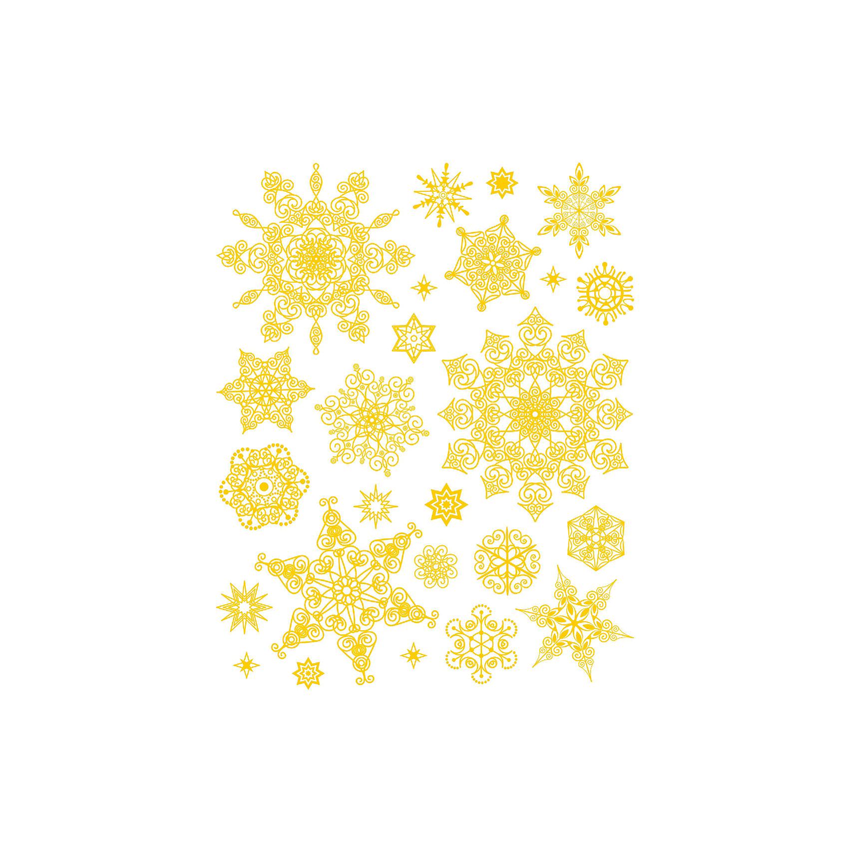 Украшение на окно Золотые снежинки 30*38 смНовинки Новый Год<br>Украшение на окно Золотые снежинки, Феникс-Презент, замечательно украсит Ваш интерьер и создаст праздничное новогоднее настроение. В комплекте несколько красочных наклеек с изображениями нарядных золотистых снежинок с различным дизайном. Рисунки декорированы<br>глиттером, прочно крепятся к стеклу с помощью прозрачной клейкой пленки, на которую нанесены изображения. Не оставляют следов на поверхности.<br><br><br>Дополнительная информация:<br><br>- Материал: ПВХ пленка.<br>- Размер листа с наклейками: 30 х 38 см.<br>- Размер упаковки: 40 x 30,5 x 0,2 см.   <br>- Вес: 62 гр. <br><br>Украшение на окно Золотые снежинки, Феникс-Презент, можно купить в нашем интернет-магазине.<br><br>Ширина мм: 1<br>Глубина мм: 320<br>Высота мм: 460<br>Вес г: 71<br>Возраст от месяцев: 36<br>Возраст до месяцев: 2147483647<br>Пол: Унисекс<br>Возраст: Детский<br>SKU: 4274689
