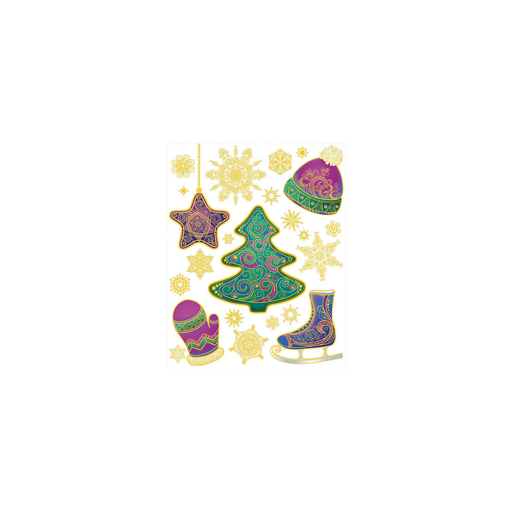 Украшение на окно Зима 30*38 смУкрашение на окно Зима, Феникс-Презент, замечательно украсит Ваш интерьер и создаст праздничное новогоднее настроение. В комплекте несколько красочных наклеек с изображениями украшенной елки, нарядных снежинок и других новогодних атрибутов. Рисунки декорированы<br>глиттером и золотистыми блестками, прочно крепятся к стеклу с помощью прозрачной клейкой пленки, на которую нанесены изображения. Не оставляют следов на поверхности.<br><br><br>Дополнительная информация:<br><br>- Материал: ПВХ пленка.<br>- Размер листа с наклейками: 30 х 38 см.<br>- Размер наибольшей наклейки: 19 х 17 см. <br>- Размер упаковки: 40 x 30,5 x 0,2 см.   <br>- Вес: 60 гр. <br><br>Украшение на окно Зима, Феникс-Презент, можно купить в нашем интернет-магазине.<br><br>Ширина мм: 1<br>Глубина мм: 320<br>Высота мм: 460<br>Вес г: 100<br>Возраст от месяцев: 36<br>Возраст до месяцев: 2147483647<br>Пол: Унисекс<br>Возраст: Детский<br>SKU: 4274692