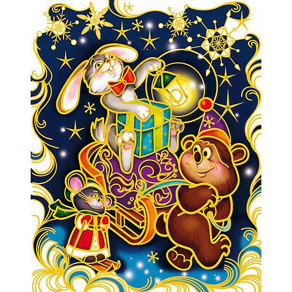 Украшение на окно С Новым Годом! 30*38 смНовинки Новый Год<br>Украшение на окно С Новым Годом!, Феникс-Презент, замечательно украсит Ваш интерьер и создаст праздничное новогоднее настроение. В комплекте красочная наклейка с изображениями забавных лесных зверюшек, везущих сани с новогодними подарками. Рисунок декорирован<br>глиттером, прочно крепится к стеклу с помощью прозрачной клейкой пленки, на которую нанесены изображения. Не оставляет следов на поверхности.<br><br><br>Дополнительная информация:<br><br>- Материал: ПВХ пленка.<br>- Размер листа с наклейками: 30 х 38 см.<br>- Размер упаковки: 0,1 х 32 х 46 см.   <br><br>Украшение на окно С Новым Годом!, Феникс-Презент, можно купить в нашем интернет-магазине.<br><br>Ширина мм: 1<br>Глубина мм: 320<br>Высота мм: 460<br>Вес г: 100<br>Возраст от месяцев: 36<br>Возраст до месяцев: 2147483647<br>Пол: Унисекс<br>Возраст: Детский<br>SKU: 4274693