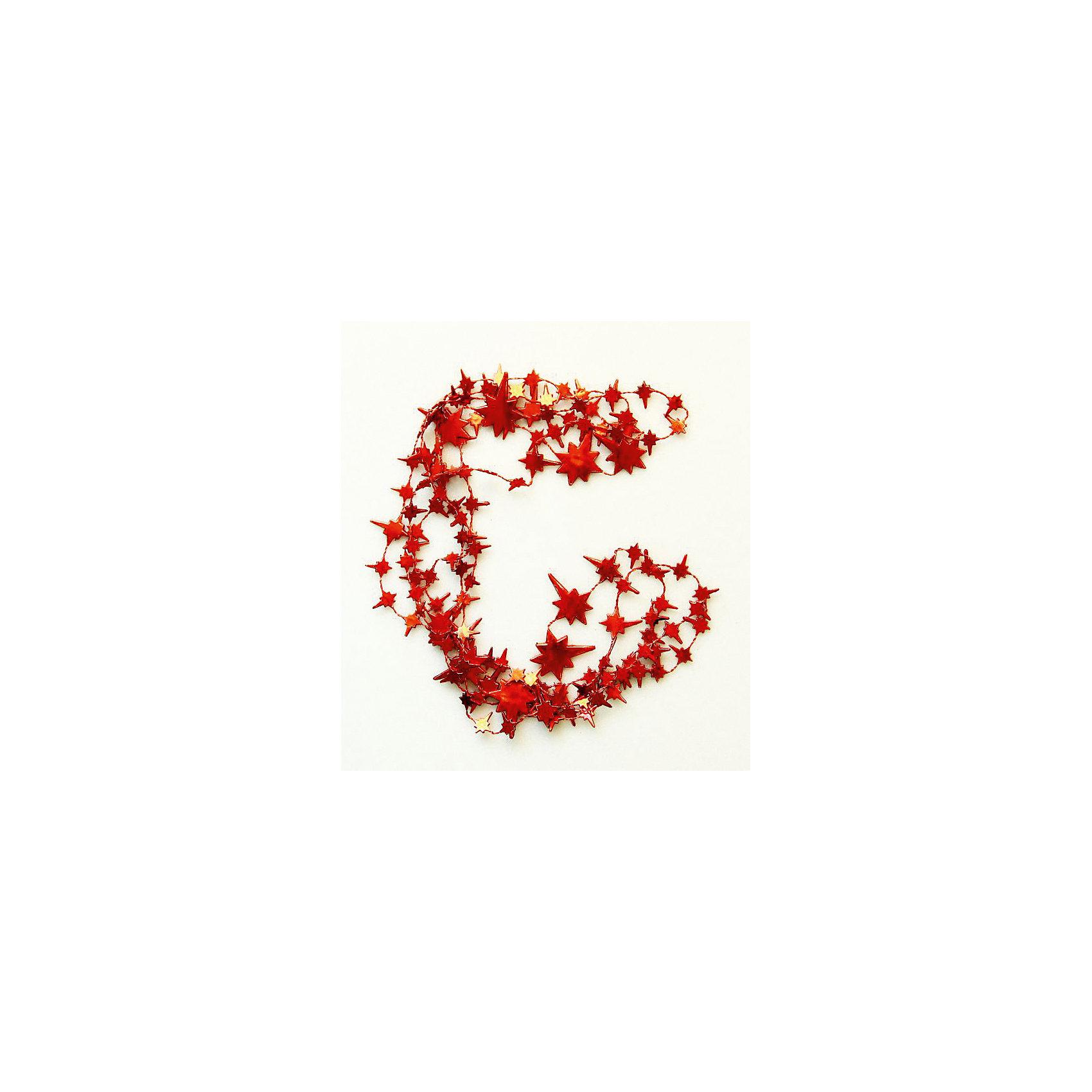 Гирлянда Красные звезды 270 смГирлянда Красные звезды, Феникс-презент, станет замечательным украшением Вашей новогодней елки или интерьера и поможет создать волшебную атмосферу новогодних праздников. Гирлянда привлекательного дизайна выполнена в форме красных звездочек различной формы и<br>величины, она будет чудесно смотреться на елке и радовать детей и взрослых. <br><br><br>Дополнительная информация:<br><br>- Материал: полистирол.<br>- Длина гирлянды: 270 см.<br>- Размер упаковки: 28 х 10 х 5 см.<br><br>Гирлянду Красные звезды, Феникс-презент, можно купить в нашем интернет-магазине.<br><br>Ширина мм: 280<br>Глубина мм: 100<br>Высота мм: 50<br>Вес г: 100<br>Возраст от месяцев: 36<br>Возраст до месяцев: 2147483647<br>Пол: Унисекс<br>Возраст: Детский<br>SKU: 4274707