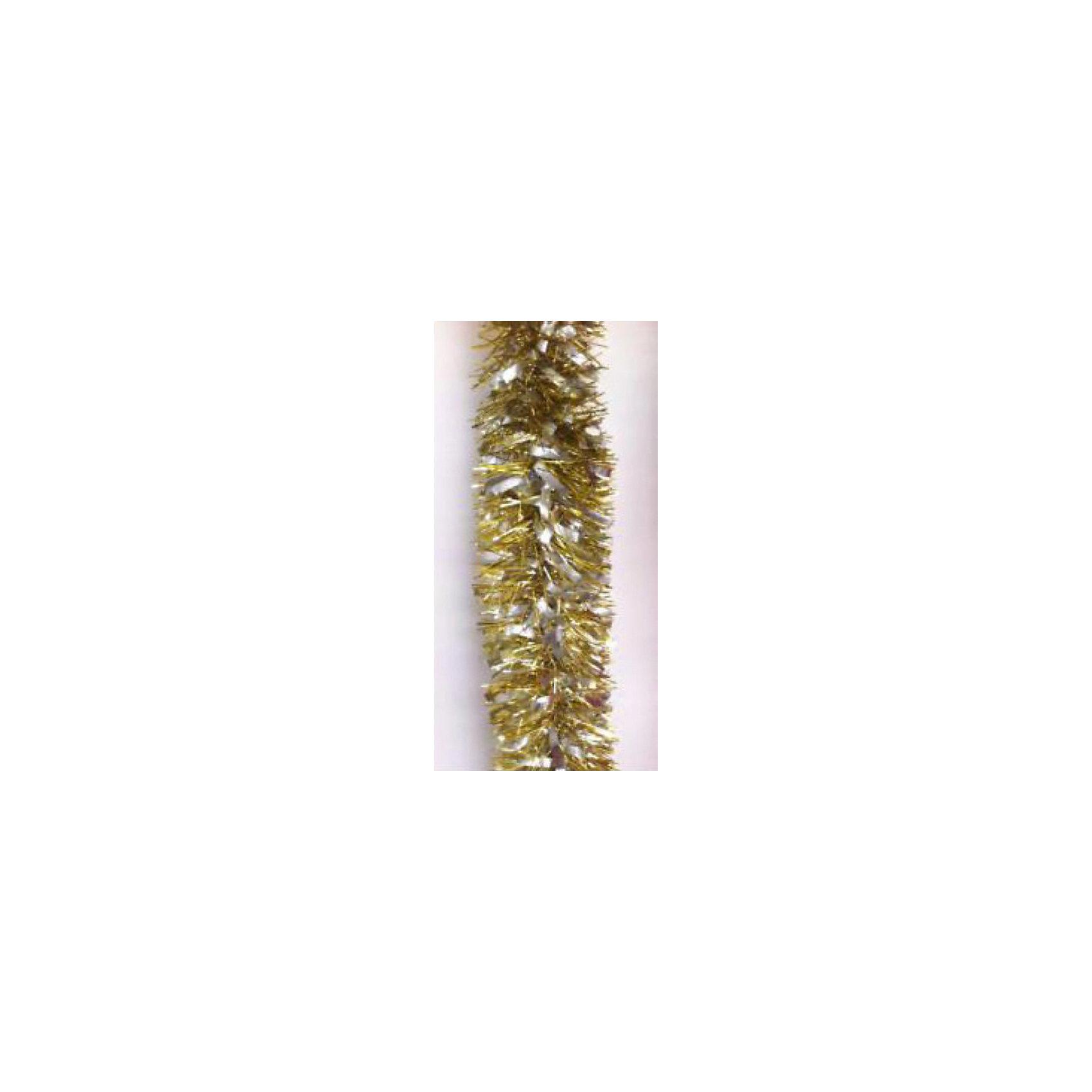 Золотая мишура 9*200 смНовинки Новый Год<br>Золотая мишура, Феникс-Презент, станет замечательным украшением Вашей новогодней елки или интерьера и поможет создать праздничную волшебную атмосферу. Мишура красивого золотистого цвета выполнена в виде скрученной косички. Внутри имеется проволока,<br>позволяющая ей хорошо сохранять форму. Золотая мишура будет чудесно смотреться на елке и радовать детей и взрослых. <br><br><br>Дополнительная информация:<br><br>- Цвет: золото.<br>- Материал: ПЭТ (полиэтилентерефталат).<br>- Размер мишуры: 9 х 200 см.<br>- Вес: 38 гр. <br><br>Золотую мишуру 9*200 см., Феникс-Презент, можно купить в нашем интернет-магазине.<br><br>Ширина мм: 20<br>Глубина мм: 200<br>Высота мм: 90<br>Вес г: 38<br>Возраст от месяцев: 36<br>Возраст до месяцев: 2147483647<br>Пол: Унисекс<br>Возраст: Детский<br>SKU: 4274709