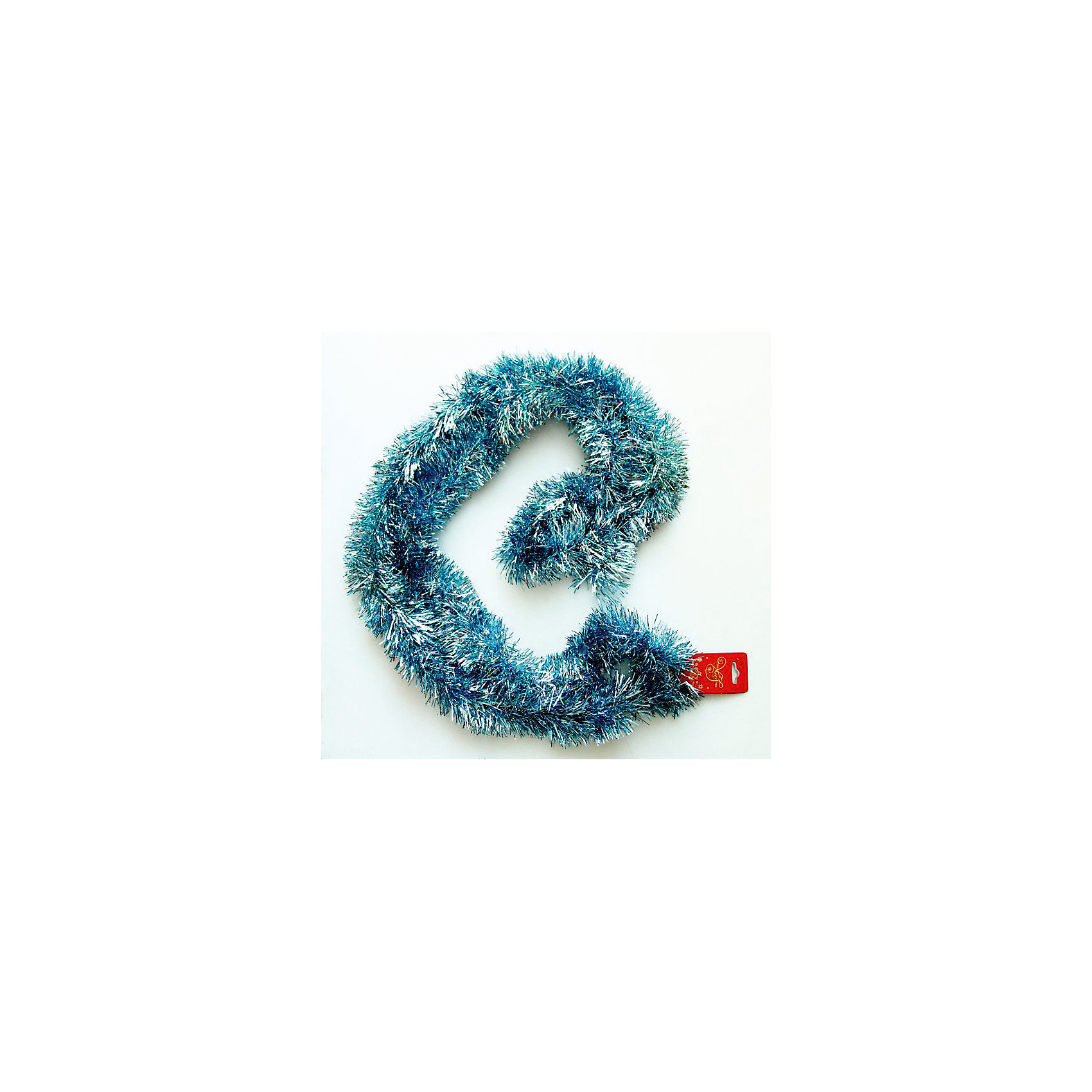 Светло-синяя мишура 7*200 см