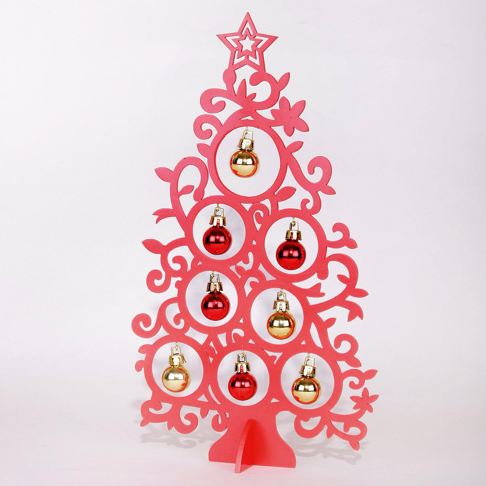 Деревянное украшение Супер-Ель (красная) 30 смДеревянное украшение Супер-Ель, Феникс-презент, замечательно украсит Ваш интерьер и станет приятным сувениром для родных и друзей. Украшение выполнено в виде ажурной новогодней елочки красного цвета, верхушку украшает звезда. В елке имеются круглые отверстия с<br>небольшими металлическими крючками, на которые можно подвесить новогодние пластиковые шарики (входят в комплект). Симпатичный сувенир порадует и взрослых и детей и создаст волшебную атмосферу новогодних праздников. <br><br><br>Дополнительная информация:<br><br>- Цвет: красный<br>- Материал: древесина тополя, пластик.<br>- Высота елки: 30 см.<br>- Размер упаковки: 31,5 x 19 x 2,5 см.<br><br>Деревянное украшение Супер-Ель (красная), Феникс-презент, можно купить в нашем интернет-магазине.<br><br>Ширина мм: 310<br>Глубина мм: 180<br>Высота мм: 30<br>Вес г: 100<br>Возраст от месяцев: 36<br>Возраст до месяцев: 2147483647<br>Пол: Унисекс<br>Возраст: Детский<br>SKU: 4274724