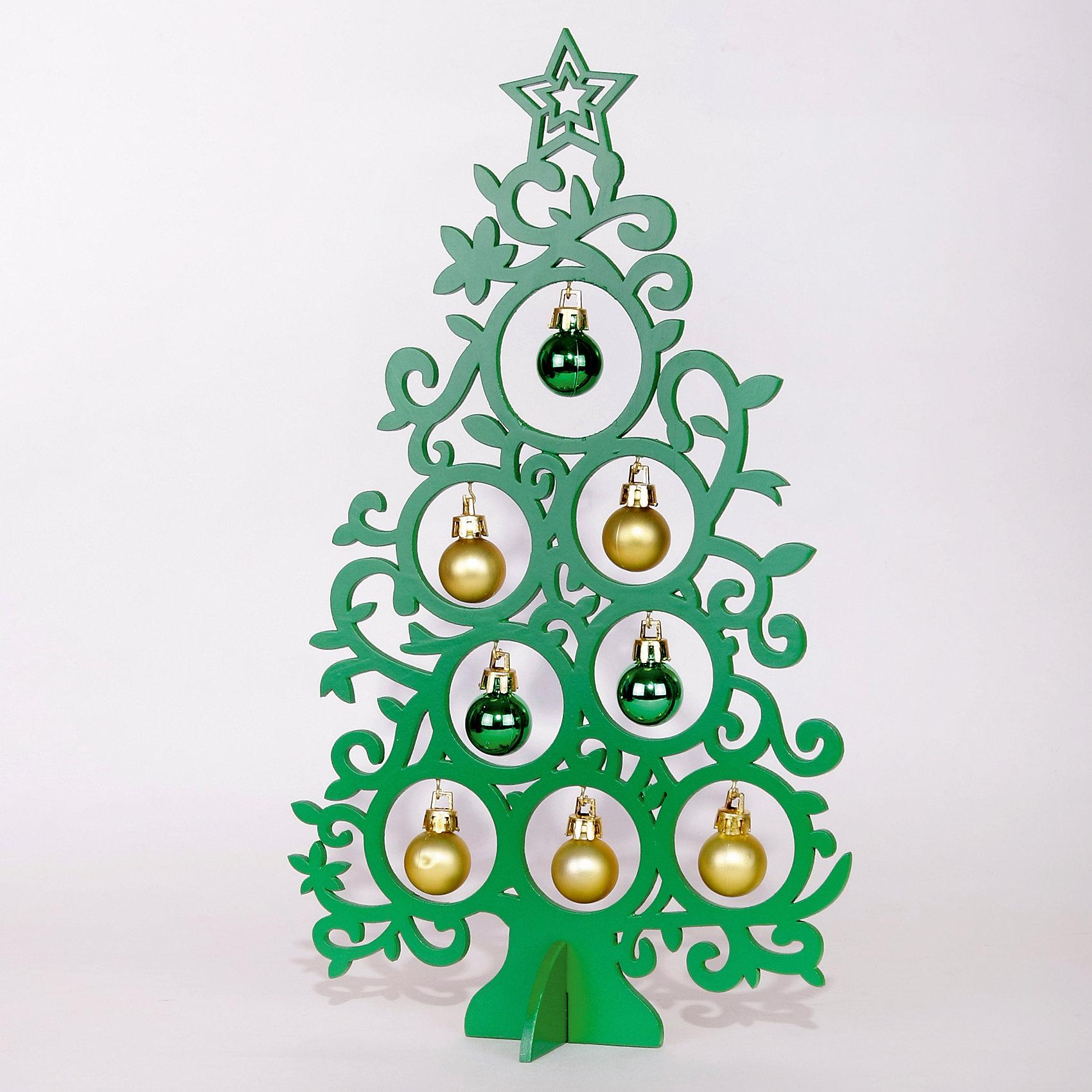 Деревянное украшение Супер-Ель (зелёная) 30 смДеревянное украшение Супер-Ель, Феникс-презент, замечательно украсит Ваш интерьер и станет приятным сувениром для родных и друзей. Украшение выполнено в виде ажурной новогодней елочки зеленого цвета, верхушку украшает звезда. В елке имеются круглые отверстия с<br>небольшими металлическими крючками, на которые можно подвесить новогодние пластиковые шарики (входят в комплект). Симпатичный сувенир порадует и взрослых и детей и создаст волшебную атмосферу новогодних праздников. <br><br><br>Дополнительная информация:<br><br>- Цвет: зеленый<br>- Материал: древесина тополя, пластик.<br>- Высота елки: 30 см.<br>- Размер упаковки: 31,5 x 19 x 2,5 см.<br><br>Деревянное украшение Супер-Ель (зеленая), Феникс-презент, можно купить в нашем интернет-магазине.<br><br>Ширина мм: 310<br>Глубина мм: 180<br>Высота мм: 30<br>Вес г: 100<br>Возраст от месяцев: 36<br>Возраст до месяцев: 2147483647<br>Пол: Унисекс<br>Возраст: Детский<br>SKU: 4274726