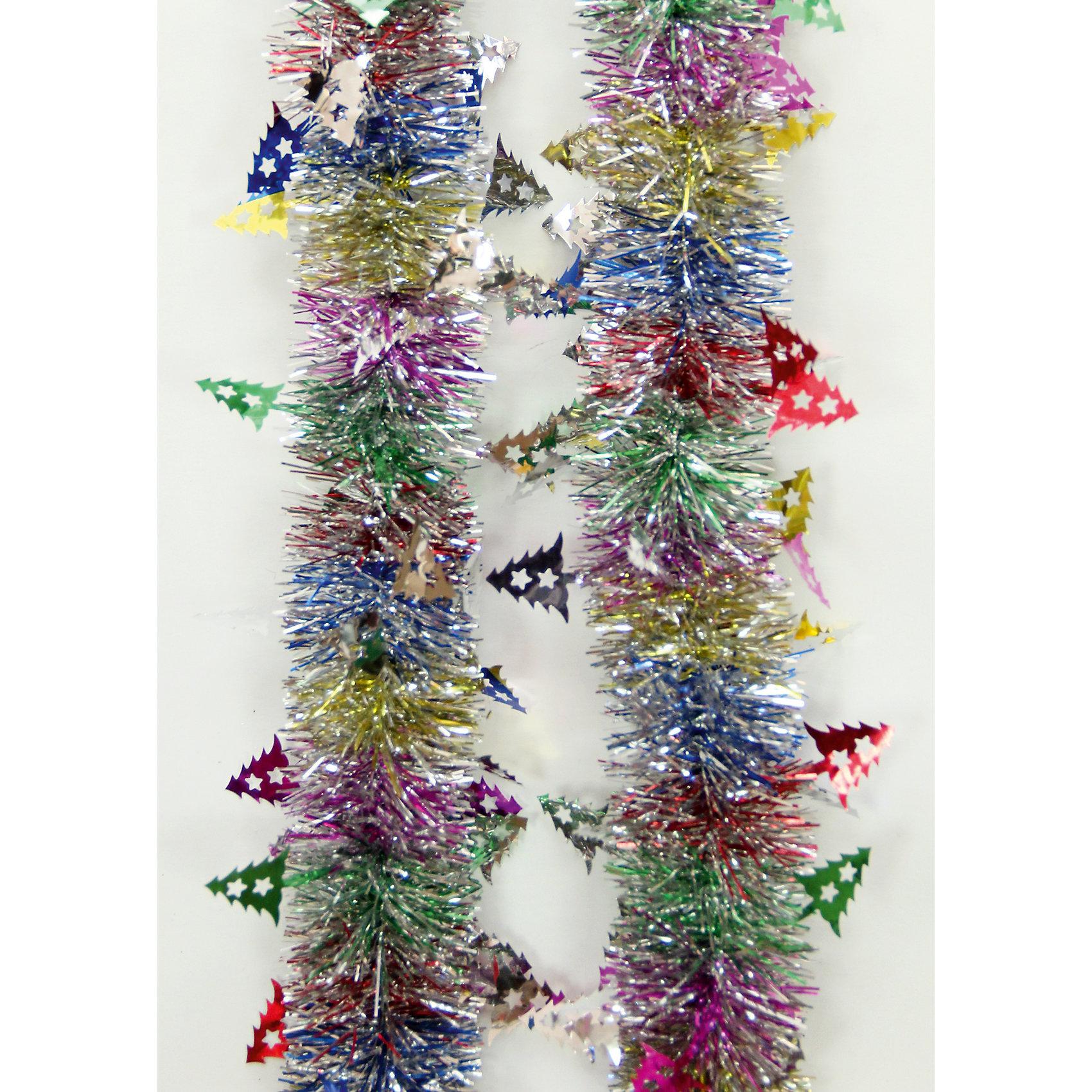 Мишура с елочками 6*200 смНовинки Новый Год<br>Мишура, Феникс-Презент, станет замечательным украшением Вашей новогодней елки или интерьера и поможет создать праздничную волшебную атмосферу. Мишура выполнена в оригинальном привлекательном дизайне с серебристыми и разноцветными иголками, внутри<br>проволока, позволяющая ей хорошо сохранять форму. Она будет чудесно смотреться на елке и радовать детей и взрослых. <br><br><br>Дополнительная информация:<br><br>- Материал: ПЭТ (полиэтилентерефталат).<br>- Размер мишуры: 6 см. х 2 м.<br>- Вес: 36 гр. <br><br>Мишуру 6*200 см., Феникс-Презент, можно купить в нашем интернет-магазине.<br><br>Ширина мм: 80<br>Глубина мм: 200<br>Высота мм: 60<br>Вес г: 36<br>Возраст от месяцев: 36<br>Возраст до месяцев: 2147483647<br>Пол: Унисекс<br>Возраст: Детский<br>SKU: 4274744