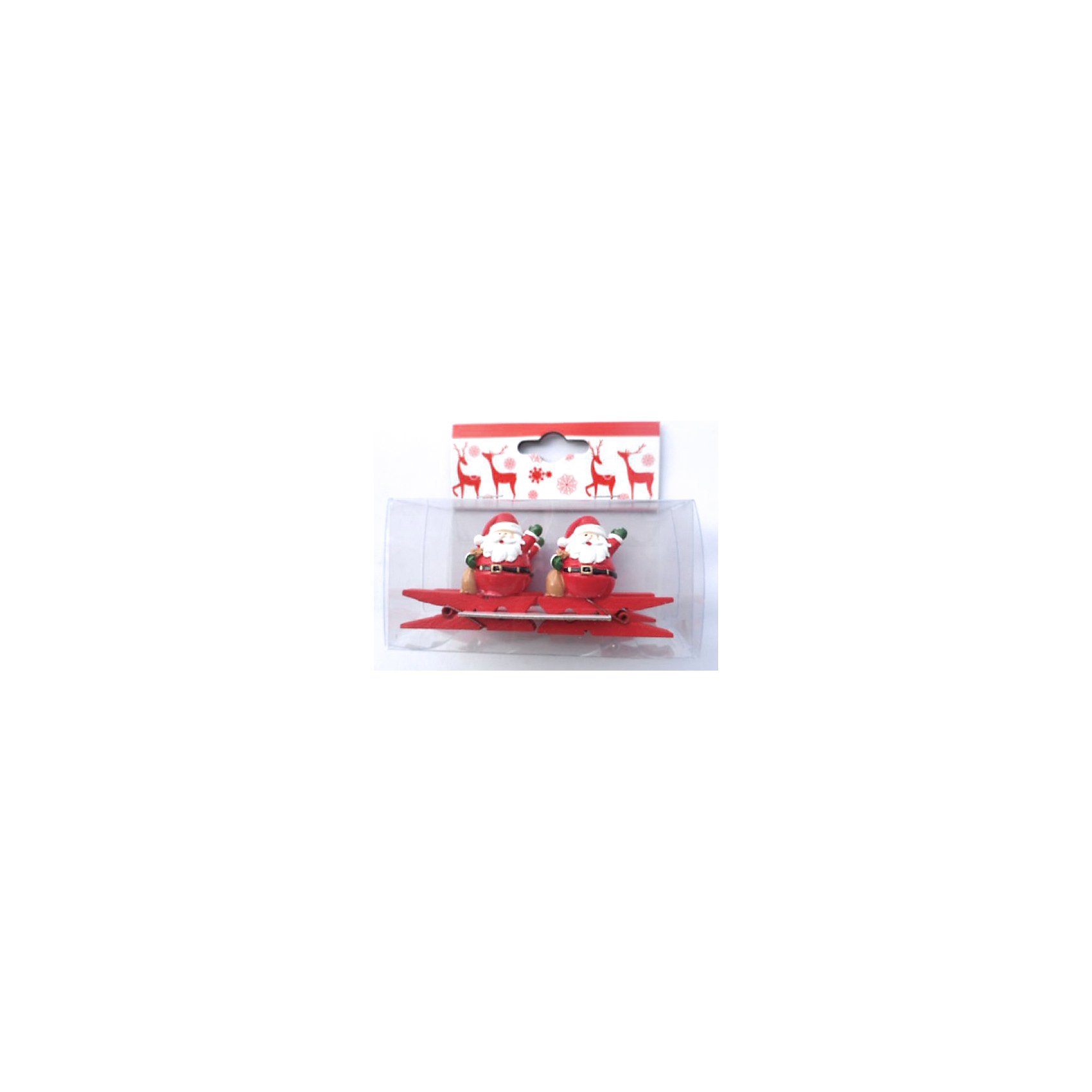 Набор декоративных прищепок Дед Мороз с мешком (4 шт)Новинки Новый Год<br>Набор декоративных прищепок Дед Мороз с мешком (4 шт) – это весёлый новогодний аксессуар, который принесёт ощущение праздника.<br>Забавные декоративные прищепки Дед Мороз с мешком подарят праздничное настроение и сделают новогодний интерьер задорней и ярче. Деревянные прищепки, декорированные фигуркой Деда Мороза с мешком подарков, станут отличным украшением для праздничной ели, новогодних подарков и сувениров. С помощью прищепок можно прикреплять открытки с новогодними поздравлениями.<br><br>Дополнительная информация:<br><br>- В наборе: 4 шт.<br>- Размер упаковки: 9,5 х 5 х 9 см.<br>- Материал: древесина березы с декором из полирезины<br><br>Набор декоративных прищепок Дед Мороз с мешком (4 шт) можно купить в нашем интернет-магазине.<br><br>Ширина мм: 110<br>Глубина мм: 60<br>Высота мм: 110<br>Вес г: 100<br>Возраст от месяцев: 36<br>Возраст до месяцев: 2147483647<br>Пол: Унисекс<br>Возраст: Детский<br>SKU: 4274748