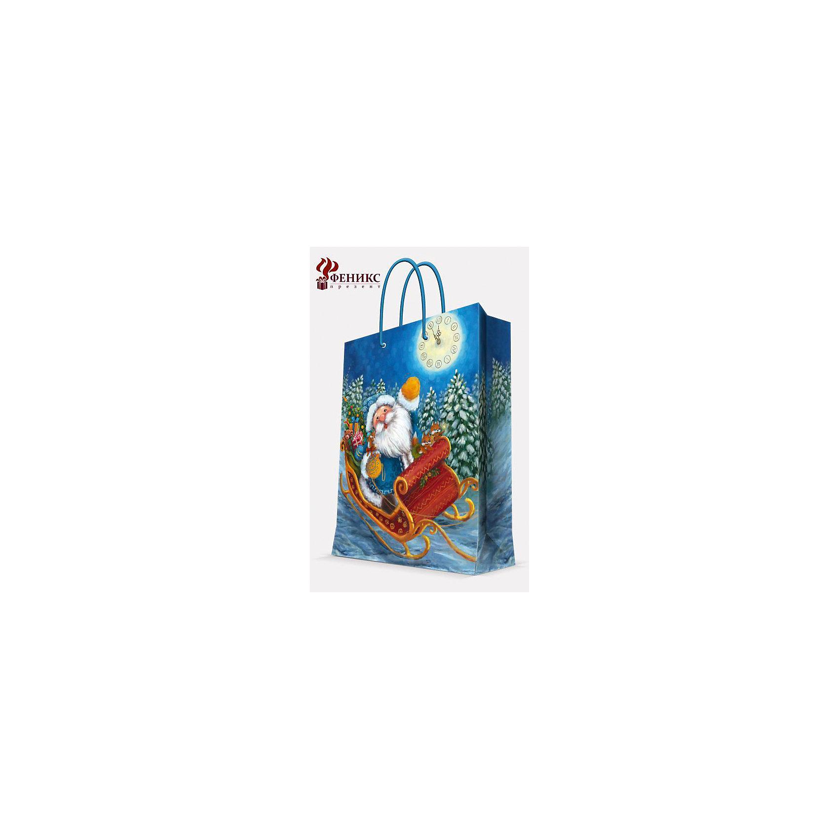 Подарочный пакет Дед Мороз в санях 26*32,4*12,7 смНовинки Новый Год<br>Подарочный пакет Дед Мороз в санях 26*32,4*12,7 см - этот яркий аксессуар станет достойным украшением новогоднего подарка.<br>Подарочный пакет Дед Мороз в санях S поможет красиво оформить новогодний подарок для родных и друзей. Яркий пакет с изображением Деда Мороза, который мчится на санях по заснеженному лесу, сделает Ваш подарок эффектным и запоминающимся. Пакет с ламинацией выполнен из плотной бумаги, имеет широкое основание. Для удобной переноски предусмотрены две ручки из шнурков.<br><br>Дополнительная информация:<br><br>- Размер: 26 х 32,4 х 12,7 см.<br>- Шириной основания: 26 см.<br>- Ламинированный<br>- Ручки: шнурки<br>- Материал: бумага<br>- Плотность: 140 г/м2<br><br>Подарочный пакет Дед Мороз в санях 26*32,4*12,7 см можно купить в нашем интернет-магазине.<br><br>Ширина мм: 1<br>Глубина мм: 260<br>Высота мм: 320<br>Вес г: 74<br>Возраст от месяцев: 36<br>Возраст до месяцев: 2147483647<br>Пол: Унисекс<br>Возраст: Детский<br>SKU: 4274758