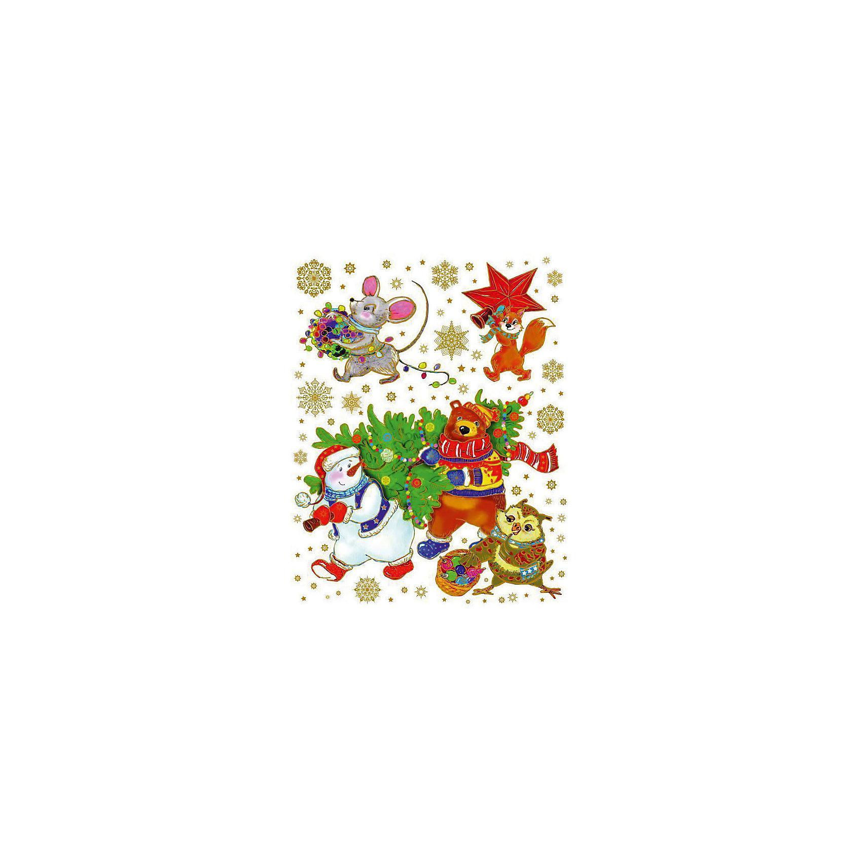 Украшение на окно Снеговик и медведь с ёлкой 30*38 смНовинки Новый Год<br>Украшение на окно Снеговик и медведь с ёлкой 30*38 см – это декоративное новогоднее украшение замечательно украсит интерьер.<br>Украшение на окно Снеговик и медведь с ёлкой создаст новогоднее настроение и принесёт немало радости Вашим детям. Украшение изготовлено из ПВХ пленки, декорировано глиттером. Крепится к гладкой поверхности стекла посредством статистического эффекта. Украшение на окно Снеговик и медведь с ёлкой подарит ощущение праздника!<br><br>Дополнительная информация:<br><br>- Размер: 30 х 38 см.<br>- Материал: ПВХ пленка<br>- Декорировано глиттером<br><br>Украшение на окно Снеговик и медведь с ёлкой 30*38 см можно купить в нашем интернет-магазине.<br><br>Ширина мм: 1<br>Глубина мм: 320<br>Высота мм: 460<br>Вес г: 71<br>Возраст от месяцев: 36<br>Возраст до месяцев: 2147483647<br>Пол: Унисекс<br>Возраст: Детский<br>SKU: 4274759