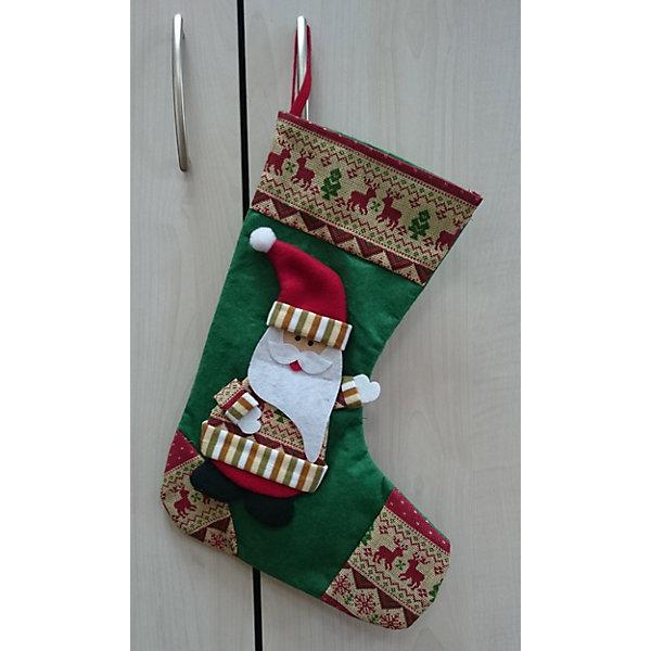 Подвесное украшение Сапожок с Дедом Морозом 24,5*34,5 смНовогодние носки<br>Подвесное украшение Сапожок с Дедом Морозом 24,5*34,5 см – этот новогодний аксессуар принесет в ваш дом волшебство и красоту праздника.<br>Подвесное украшение Сапожок с Дедом Морозом - это незаменимый элемент новогоднего и рождественского домашнего декора, а также отличная упаковка для новогоднего подарка. Положенный в него подарок будет запоминающимся и принесёт радость вашим детям. Сапожок выполнен из синтетического фетра, декорирован изображением Деда Мороза. С помощью петельки его можно подвесить в любое понравившееся место.<br><br>Дополнительная информация:<br><br>- Размер: 24,5 х 34,5 см.<br>- Материал: синтетический фетр<br><br>Подвесное украшение Сапожок с Дедом Морозом 24,5*34,5 см можно купить в нашем интернет-магазине.<br><br>Ширина мм: 10<br>Глубина мм: 230<br>Высота мм: 320<br>Вес г: 71<br>Возраст от месяцев: 36<br>Возраст до месяцев: 2147483647<br>Пол: Унисекс<br>Возраст: Детский<br>SKU: 4274766