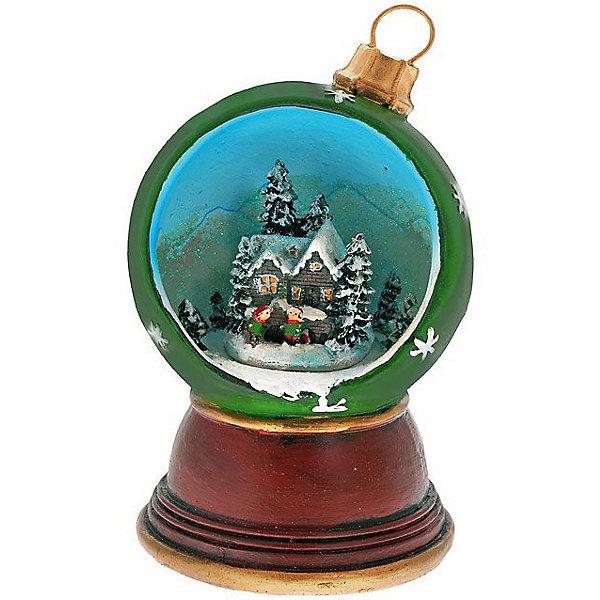 Музыкальное украшение ЗимаНовогодние сувениры<br>Музыкальное украшение - это новогодняя игрушка принесет ни с чем несравнимое ощущение волшебства!<br>Музыкальное украшение выполнено в виде шарика, оформленного внутри новогодней композицией. На дне сувенира расположен ключ для завода музыкального механизма. Поверните ключ, и сувенир начнет воспроизводить приятную новогоднюю мелодию. Музыкальное украшение принесет волшебство и ощущение праздника и создаст атмосферу тепла, веселья и радости.<br><br>Дополнительная информация:<br><br>- Размер: 10,2 х 10 х 16,8 см.<br>- Материал: полирезина<br><br>Музыкальное украшение можно купить в нашем интернет-магазине.<br>Ширина мм: 168; Глубина мм: 100; Высота мм: 102; Вес г: 566; Возраст от месяцев: 36; Возраст до месяцев: 2147483647; Пол: Унисекс; Возраст: Детский; SKU: 4274784;