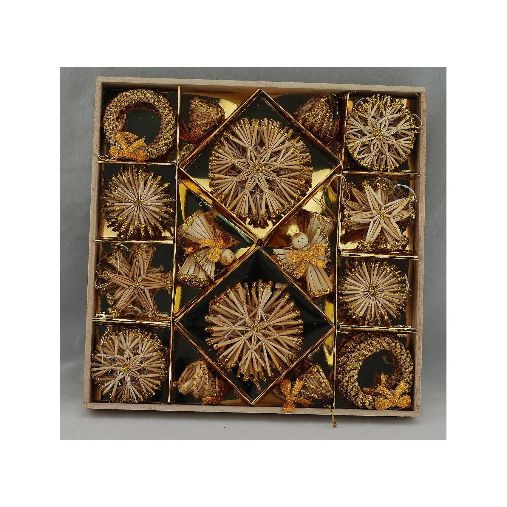Украшение Звезды и снежинкиУкрашение Звезды и снежинки – это декоративное новогоднее украшение принесет ни с чем несравнимое ощущение волшебства!<br>Оригинальный новогодний набор «Звездочки и снежинки» прекрасно подойдет для декора дома, офиса и праздничной елки. Набор состоит из 48 подвесных украшений, выполненных из натуральной соломы в виде снежинок, звездочек, ангелов, колокольчиков и колец. Изделия покрыты лаком и оформлены глиттером (золотистыми блестками). Такие украшения легки и удобны для оформления новогоднего интерьера, они не разобьются и прослужат долго. Оригинальный дизайн и красочное исполнение создадут праздничное настроение. С помощью специальных петелек украшения можно повесить в любом понравившемся вам месте. Новогодние украшения приносят волшебство и ощущение праздника и создают атмосферу тепла, веселья и радости.<br><br>Дополнительная информация:<br><br>- В наборе: 48 шт.<br>- Размер: 6-8 см.<br>- Материал: солома<br>- Цвет: бежевый<br>- Размер упаковки: 27 х 27 х 3 см.<br><br>Украшение Звезды и снежинки можно купить в нашем интернет-магазине.<br><br>Ширина мм: 270<br>Глубина мм: 270<br>Высота мм: 30<br>Вес г: 302<br>Возраст от месяцев: 36<br>Возраст до месяцев: 2147483647<br>Пол: Унисекс<br>Возраст: Детский<br>SKU: 4276420