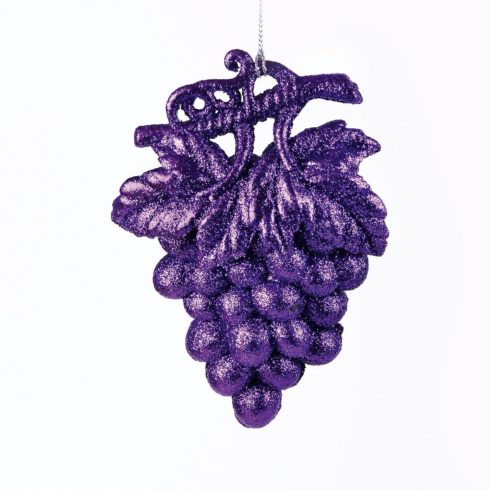 Новогоднее украшение Гроздь виноградаНовинки Новый Год<br>Гроздь винограда – это декоративное новогоднее украшение замечательно украсит интерьер.<br>Оригинальное новогоднее украшение прекрасно подойдет для праздничного декора дома и новогодней ели. Украшение выполнено из пластика в виде грозди винограда фиолетового цвета. С помощью специальной петельки его можно повесить в любом понравившемся вам месте. Но, конечно, удачнее всего такая игрушка будет смотреться на праздничной елке. Новогодние украшения приносят в дом волшебство и ощущение праздника. Создайте в своем доме атмосферу веселья и радости, украшая новогоднюю елку нарядными игрушками, которые будут из года в год накапливать теплоту воспоминаний.<br><br>Дополнительная информация:<br><br>- Размер: 9,5 х 2,5 х 15 см.<br>- Цвет: фиолетовый<br>- Материал: пластик<br><br>Новогоднее украшение принесет в ваш дом ни с чем несравнимое ощущение волшебства!<br><br>Новогоднее украшение можно купить в нашем интернет-магазине.<br><br>Ширина мм: 21<br>Глубина мм: 170<br>Высота мм: 200<br>Вес г: 100<br>Возраст от месяцев: 36<br>Возраст до месяцев: 2147483647<br>Пол: Унисекс<br>Возраст: Детский<br>SKU: 4276450
