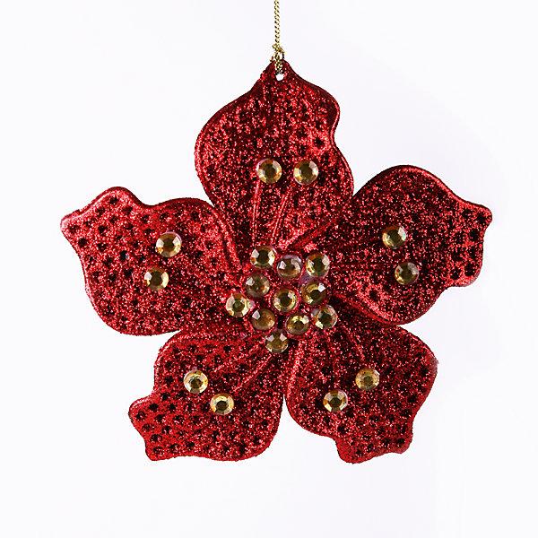 Украшение Красный цветок со стразамиЁлочные игрушки<br>Украшение Красный цветок со стразами – это декоративное новогоднее украшение замечательно украсит интерьер.<br>Оригинальное новогоднее украшение Красный цветок со стразами прекрасно подойдет для праздничного декора дома и новогодней ели. Украшение выполнено из пластика. С помощью специальной петельки его можно повесить в любом понравившемся вам месте. Но, конечно, удачнее всего такая игрушка будет смотреться на праздничной елке. Новогодние украшения приносят в дом волшебство и ощущение праздника. Создайте в своем доме атмосферу веселья и радости, украшая новогоднюю елку нарядными игрушками, которые будут из года в год накапливать теплоту воспоминаний.<br><br>Дополнительная информация:<br><br>- Размер: 15 см.<br>- Цвет: красный<br>- Материал: пластик<br><br>Украшение Красный цветок со стразами принесет в ваш дом ни с чем несравнимое ощущение волшебства!<br><br>Украшение Красный цветок со стразами можно купить в нашем интернет-магазине.<br><br>Ширина мм: 160<br>Глубина мм: 80<br>Высота мм: 40<br>Вес г: 100<br>Возраст от месяцев: 36<br>Возраст до месяцев: 2147483647<br>Пол: Унисекс<br>Возраст: Детский<br>SKU: 4276452