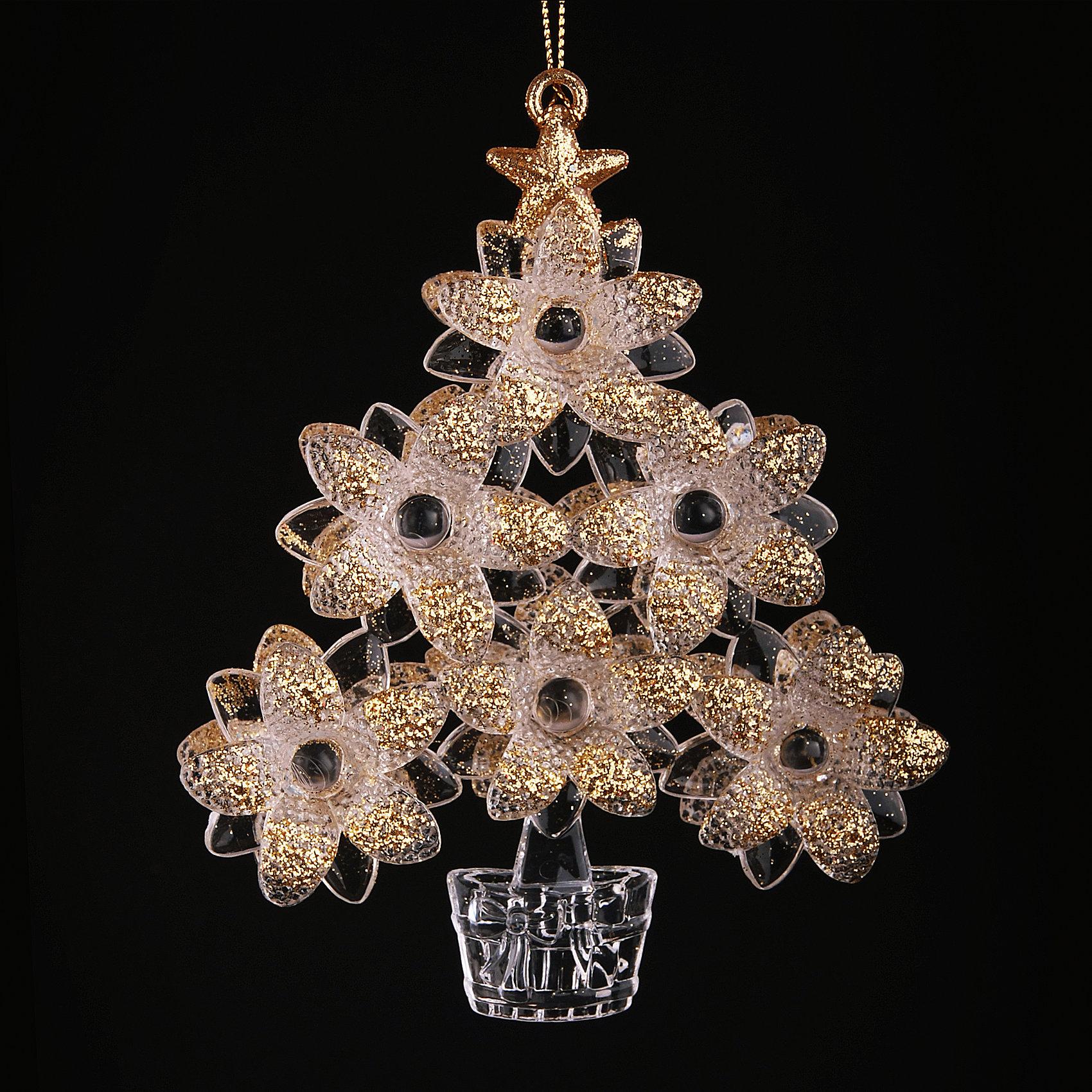 Новогоднее украшение ДеревоНовогоднее украшение – это декоративное украшение замечательно украсит интерьер.<br>Оригинальное новогоднее украшение прекрасно подойдет для праздничного декора дома и новогодней ели. Украшение выполнено из пластика в виде цветущего дерева. С помощью специальной петельки его можно повесить в любом понравившемся вам месте. Но, конечно, удачнее всего такая игрушка будет смотреться на праздничной елке. Новогодние украшения приносят в дом волшебство и ощущение праздника. Создайте в своем доме атмосферу веселья и радости, украшая новогоднюю елку нарядными игрушками, которые будут из года в год накапливать теплоту воспоминаний.<br><br>Дополнительная информация:<br><br>- Материал: пластик<br><br>Новогоднее украшение принесет в ваш дом ни с чем несравнимое ощущение волшебства!<br><br>Новогоднее украшение можно купить в нашем интернет-магазине.<br><br>Ширина мм: 240<br>Глубина мм: 130<br>Высота мм: 200<br>Вес г: 100<br>Возраст от месяцев: 36<br>Возраст до месяцев: 2147483647<br>Пол: Унисекс<br>Возраст: Детский<br>SKU: 4276453