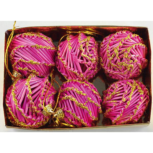 Украшение Розовые шарыЁлочные игрушки<br>Украшение Розовые шары – это декоративное новогоднее украшение замечательно украсит интерьер.<br>Набор подвесных украшений состоит из 6 розовых шаров, выполненных из соломы, покрытых лакоми и декорированных глиттером. Такие шары легки и удобны при оформлении елки, они не разобьются и прослужат долго. Оригинальный дизайн и красочное исполнение создадут праздничное настроение. Новогодние украшения приносят в дом волшебство и ощущение праздника и создают атмосферу тепла, веселья и радости.<br><br>Дополнительная информация:<br><br>- В наборе: 6 шт.<br>- Диаметр: 6 см.<br>- Материал: солома<br>- Цвет: розовый<br>- Размер упаковки: 18 х 12 х 6 см.<br><br>Украшение Розовые шары принесет в ваш дом ни с чем несравнимое ощущение волшебства!<br><br>Украшение Розовые шары можно купить в нашем интернет-магазине.<br>Ширина мм: 60; Глубина мм: 120; Высота мм: 180; Вес г: 100; Возраст от месяцев: 36; Возраст до месяцев: 2147483647; Пол: Унисекс; Возраст: Детский; SKU: 4276459;