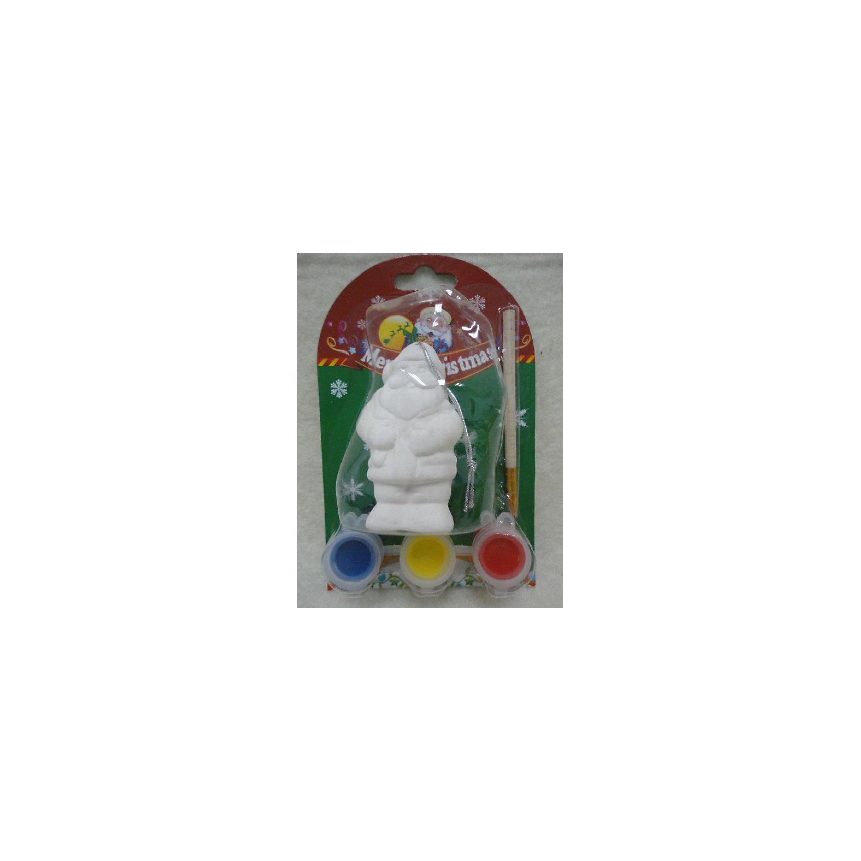 Набор для раскрашивания (керамика, 1 фигурка)Набор для раскрашивания (керамика, 1 фигурка)<br>Набор для раскрашивания станет приятным новогодним сюрпризом для Вашего ребенка. В комплект входит керамическая фигурка Санта Клауса, которую надо раскрасить понравившимися цветами, кисточка и краски. Готовая игрушка замечательно украсит Ваш новогодний интерьер и поможет создать праздничную волшебную атмосферу.<br><br>Дополнительная информация:<br><br>- В наборе: керамическая фигурка, три краски (желтая, красная, синяя), кисть<br>- Размер фигурки: 5,5 х 7,6 см.<br><br>Набор для раскрашивания (керамика, 1 фигурка) можно купить в нашем интернет-магазине.<br><br>Ширина мм: 230<br>Глубина мм: 230<br>Высота мм: 30<br>Вес г: 167<br>Возраст от месяцев: 36<br>Возраст до месяцев: 2147483647<br>Пол: Унисекс<br>Возраст: Детский<br>SKU: 4276466