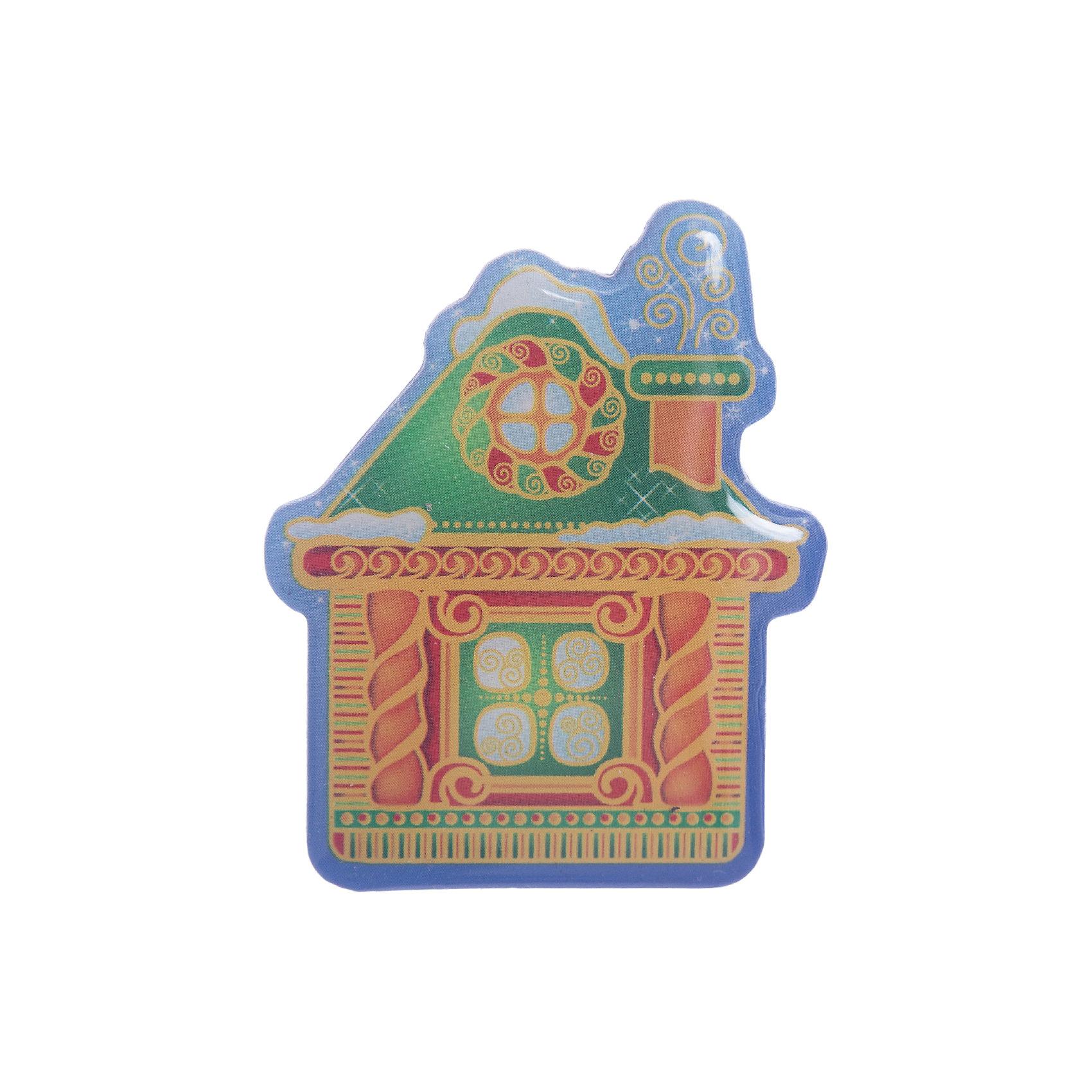 Магнит ДомНовинки Новый Год<br>Магнит – этот новогодний аксессуар отличный мини-презент для друзей и близких.<br>Магнит послужит не только хорошим дополнением к основному подарку, но и прекрасным украшением любой плоской металлической поверхности. Магнит выполнен в виде сказочного домика. Магнит вызывает исключительно положительные эмоции и создает праздничную атмосферу в доме.<br><br>Дополнительная информация:<br><br>- Размер: 6,5 х 5,5 см.<br>- Материал: агломерированный феррит<br><br>Магнит можно купить в нашем интернет-магазине.<br><br>Ширина мм: 75<br>Глубина мм: 65<br>Высота мм: 10<br>Вес г: 40<br>Возраст от месяцев: 36<br>Возраст до месяцев: 2147483647<br>Пол: Унисекс<br>Возраст: Детский<br>SKU: 4276477