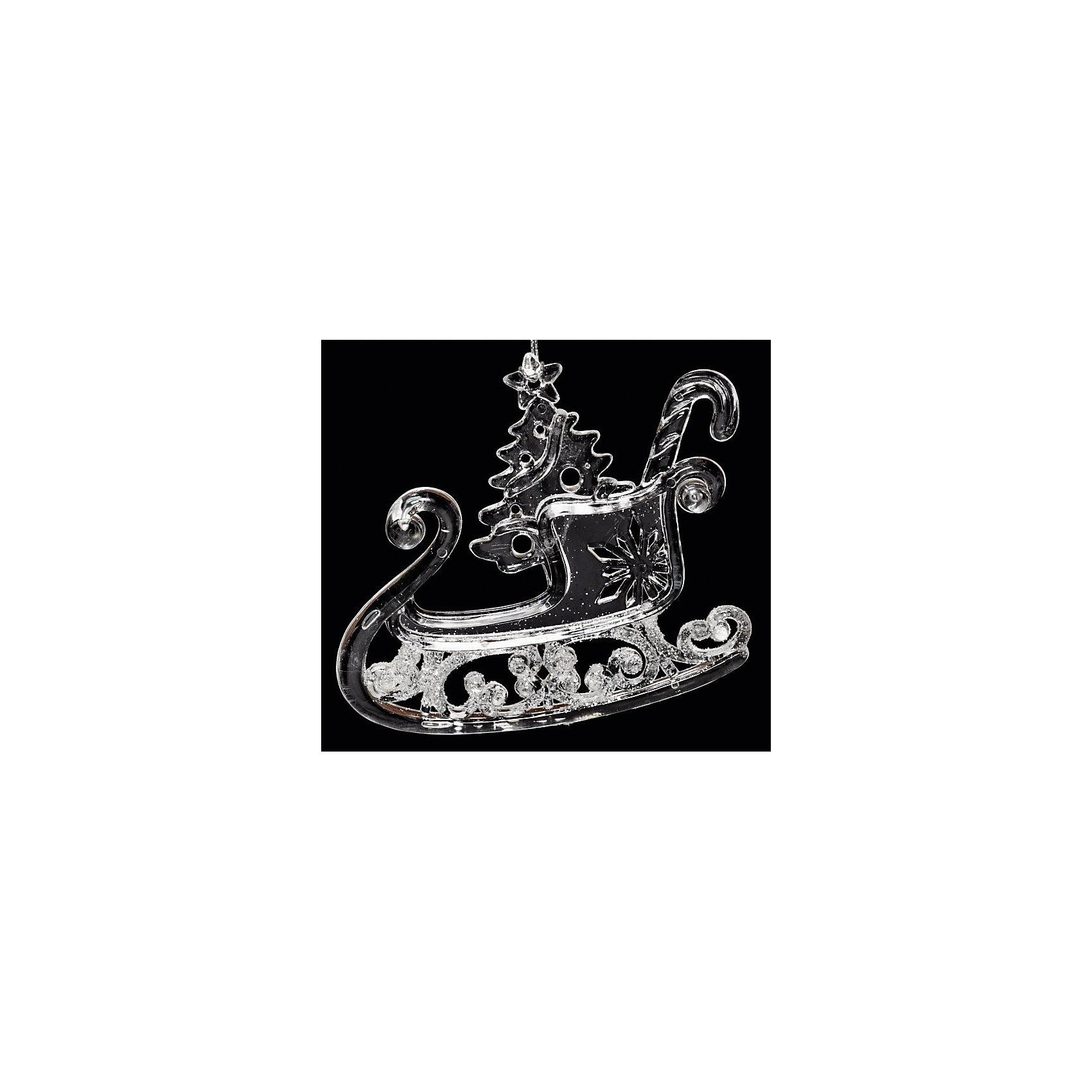 Феникс-Презент Украшение Санки новогоднее оконное украшение феникс презент обезьянки