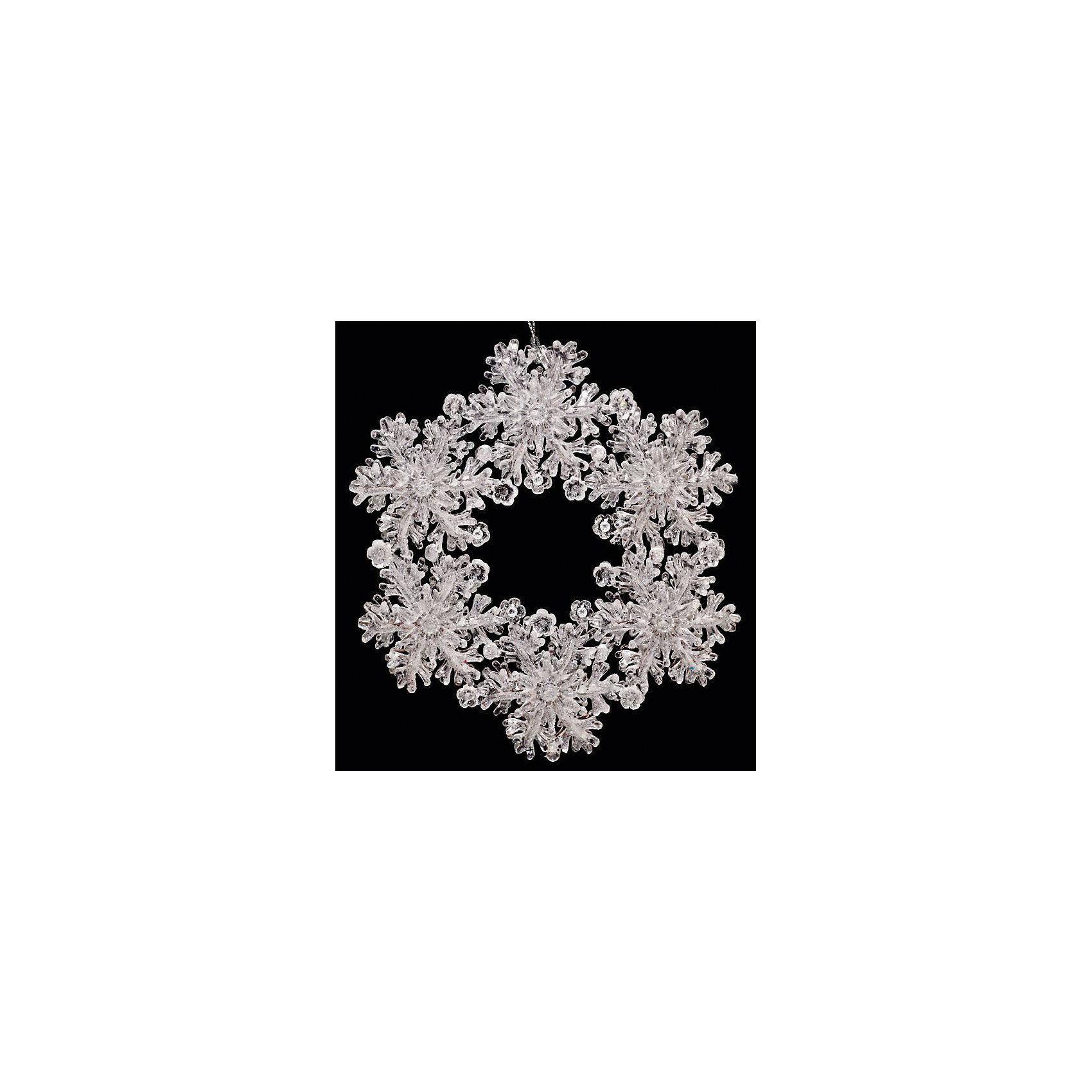 Украшение ВенокУкрашение Венок, Феникс-Презент, замечательно украсит Вашу новогоднюю елку или интерьер и создаст праздничное новогоднее настроение. Украшение выполнено в виде красивого веночка из прозрачных, словно изо льда снежинок, оно будет чудесно смотреться на елке и радовать детей и взрослых.<br><br>Дополнительная информация:<br><br>- Материал: пластик.<br>- Размер: 12,7 см.<br>- Размер упаковки: 2 x 15 x 22 см.<br><br>Украшение Венок, Феникс-Презент, можно купить в нашем интернет-магазине.<br><br>Ширина мм: 20<br>Глубина мм: 150<br>Высота мм: 220<br>Вес г: 60<br>Возраст от месяцев: 36<br>Возраст до месяцев: 2147483647<br>Пол: Унисекс<br>Возраст: Детский<br>SKU: 4276501