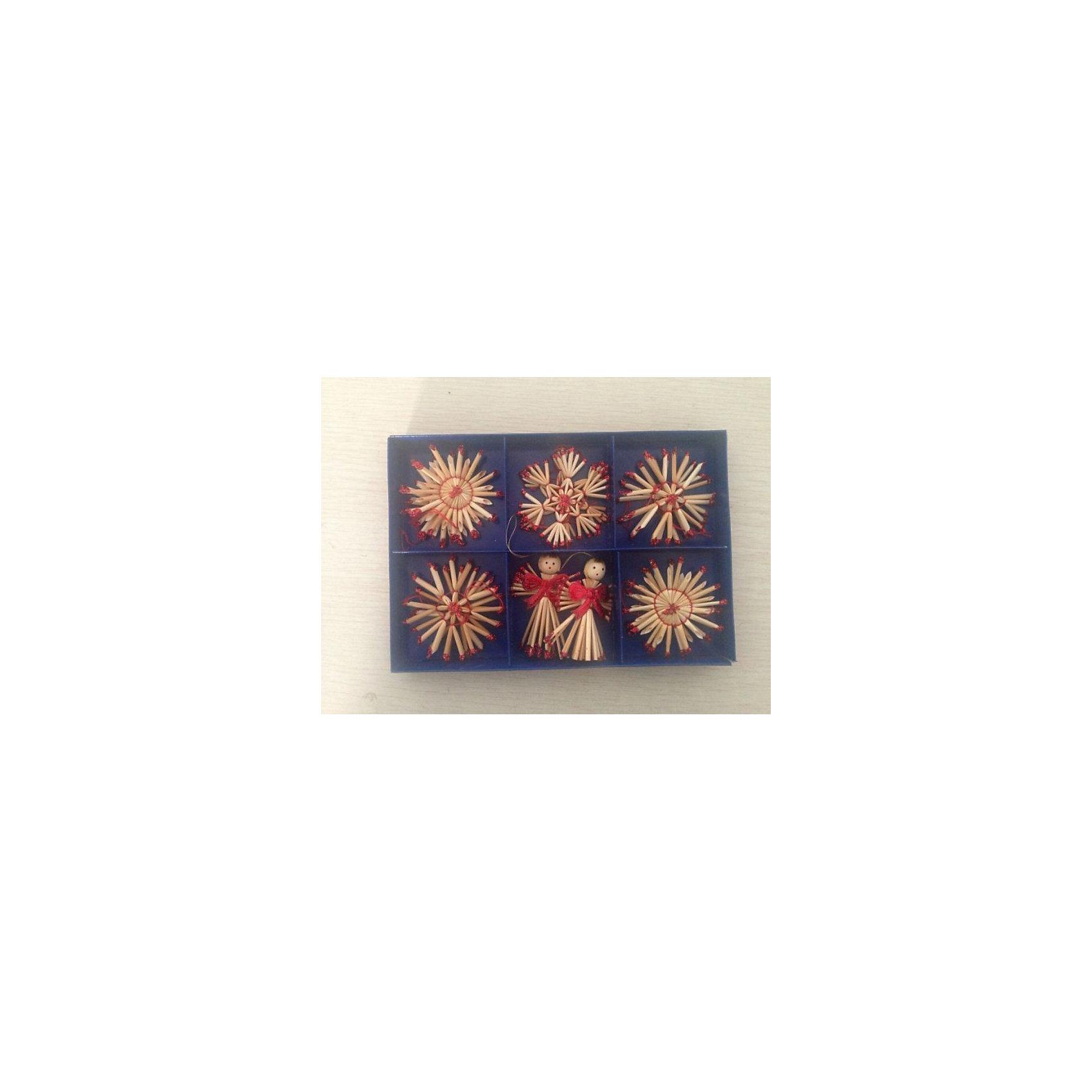 Украшение Ангелы и звездыНовинки Новый Год<br>Украшение Ангелы и звезды, Феникс-Презент, замечательно украсит Вашу елку или интерьер на новогодние и рождественские праздники и создаст праздничную волшебную атмосферу. В комплекте 12 украшений из соломки в виде звездочек разной формы и фигурок ангелов, украшенных бантиками. Поверхность игрушек покрыта лаком, имеются петельки, за которые их можно повесить в любом понравившемся Вам месте.<br><br>Дополнительная информация:<br><br>- В комплекте: 12 шт.<br>- Материал: соломка.<br>- Размер украшения: 6 см.<br>- Размер упаковки: 19 х 13 х 2,5 см.<br>- Вес: 60 гр.<br><br>Украшение Ангелы и звезды, Феникс-Презент, можно купить в нашем интернет-магазине.<br><br>Ширина мм: 20<br>Глубина мм: 135<br>Высота мм: 195<br>Вес г: 60<br>Возраст от месяцев: 36<br>Возраст до месяцев: 2147483647<br>Пол: Унисекс<br>Возраст: Детский<br>SKU: 4276511