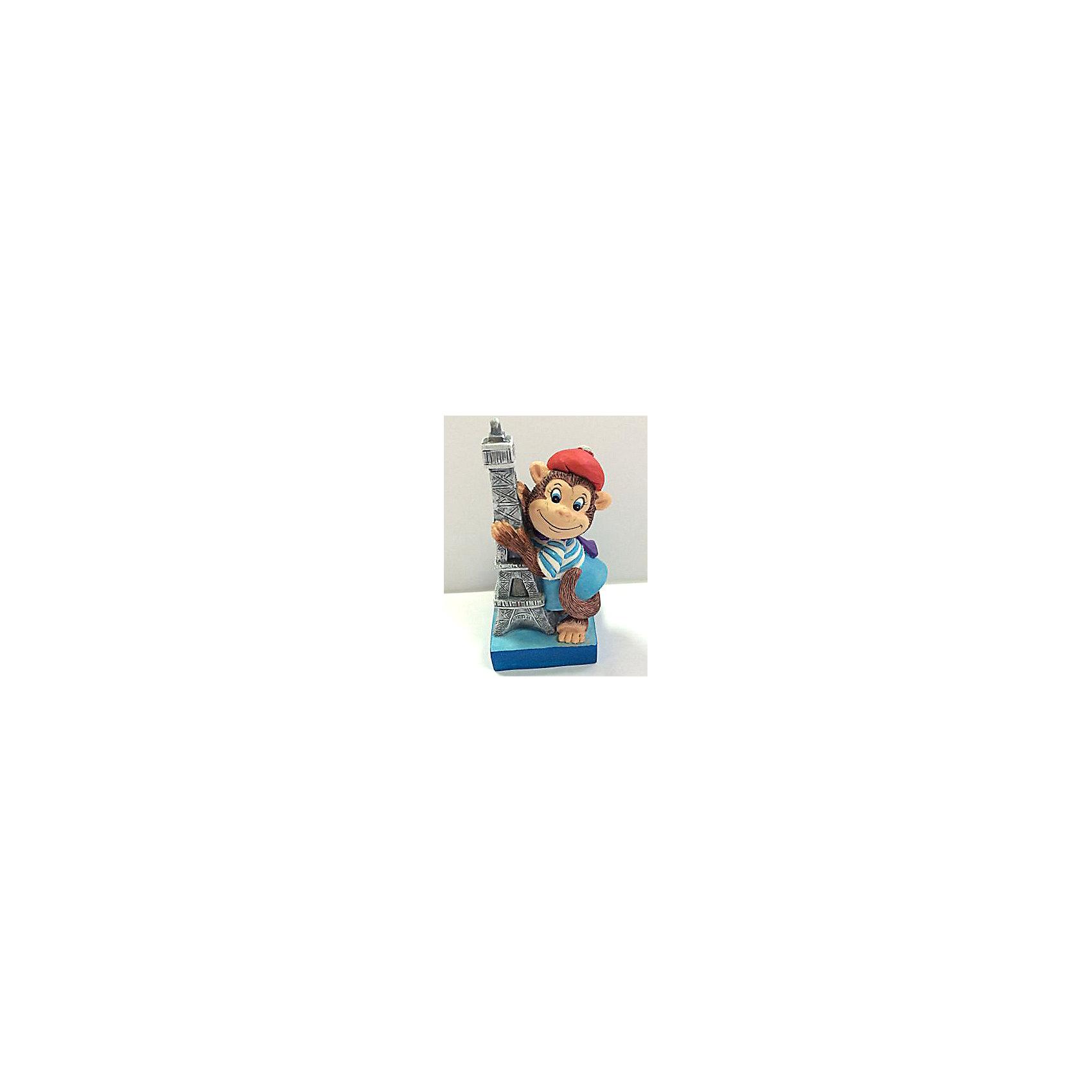 Декоративная обезьяна ПарижанкаДекоративная обезьянка Парижанка, Феникс-Презент, прекрасно дополнит Ваш новогодний интерьер и станет приятным сувениром для родных и друзей. Веселая обезьянка представлена в образе парижанки в голубой полосатой кофточке и красной шапочке, рядом с ней - Эйфелева башня. Обезьяна является символом Нового 2016 года, забавная фигурка принесет Вам радость и удачу и поднимет настроение.  <br><br>Дополнительная информация:<br><br>- Материал: полирезина. <br>- Размер фигурки: 4 х 3,8 х 8,2 см.<br><br>Декоративную обезьянку Парижанка, Феникс-Презент,  можно купить в нашем интернет-магазине.<br><br>Ширина мм: 50<br>Глубина мм: 50<br>Высота мм: 100<br>Вес г: 100<br>Возраст от месяцев: 36<br>Возраст до месяцев: 2147483647<br>Пол: Унисекс<br>Возраст: Детский<br>SKU: 4276523
