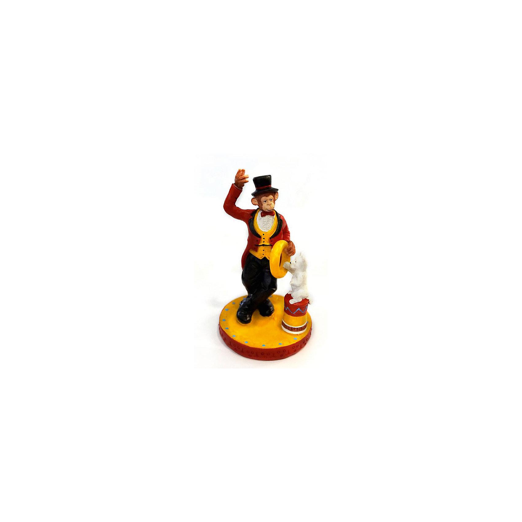 Феникс-Презент Декоративная обезьяна Фокусник с котом декоративная фигурка феникс презент африканка с дочерьми высота 38 5 см