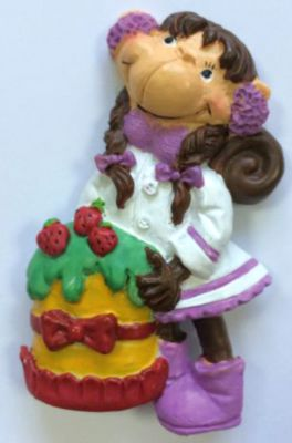 Феникс-Презент Декоративная обезьяна С тортом
