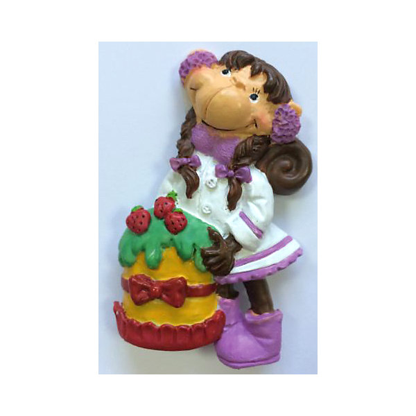 Декоративная обезьяна С тортомНовогодние сувениры<br>Декоративная обезьянка С тортом, Феникс-Презент, прекрасно дополнит Ваш новогодний интерьер и станет приятным сувениром для родных и друзей. Очаровательная обезьянка в нарядном белом платье держит в лапках праздничный торт, сзади у фигурки имеется магнитное крепление. Обезьяна является символом Нового 2016 года, забавная фигурка принесет Вам радость и удачу и поднимет настроение.  <br><br>Дополнительная информация:<br><br>- Материал: полирезина. <br>- Размер фигурки: 4 х 7 х 1,5 см.<br><br>Декоративную обезьянку С тортом, Феникс-Презент, можно купить в нашем интернет-магазине.<br>Ширина мм: 50; Глубина мм: 80; Высота мм: 25; Вес г: 100; Возраст от месяцев: 36; Возраст до месяцев: 2147483647; Пол: Унисекс; Возраст: Детский; SKU: 4276532;