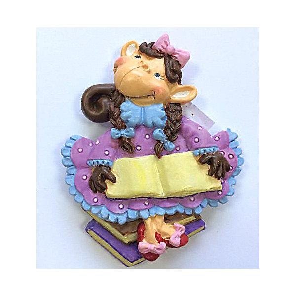 Декоративная обезьяна С книгойНовогодние сувениры<br>Декоративная обезьянка С книгой, Феникс-презент, прекрасно дополнит Ваш новогодний интерьер и станет приятным сувениром для родных и друзей. Очаровательная обезьянка в розовом платье и туфельках с бантиками держит в лапках большую книгу, сзади у фигурки имеется магнитное крепление. Обезьяна является символом Нового 2016 года, забавный сувенир принесет Вам радость и удачу и поднимет настроение.  <br><br>Дополнительная информация:<br><br>- Материал: полирезина. <br>- Размер фигурки: 5,8 х 7 х 1,5 см.<br><br>Декоративную обезьянку С книгой, Феникс-презент,  можно купить в нашем интернет-магазине.<br><br>Ширина мм: 70<br>Глубина мм: 80<br>Высота мм: 25<br>Вес г: 100<br>Возраст от месяцев: 36<br>Возраст до месяцев: 2147483647<br>Пол: Унисекс<br>Возраст: Детский<br>SKU: 4276533