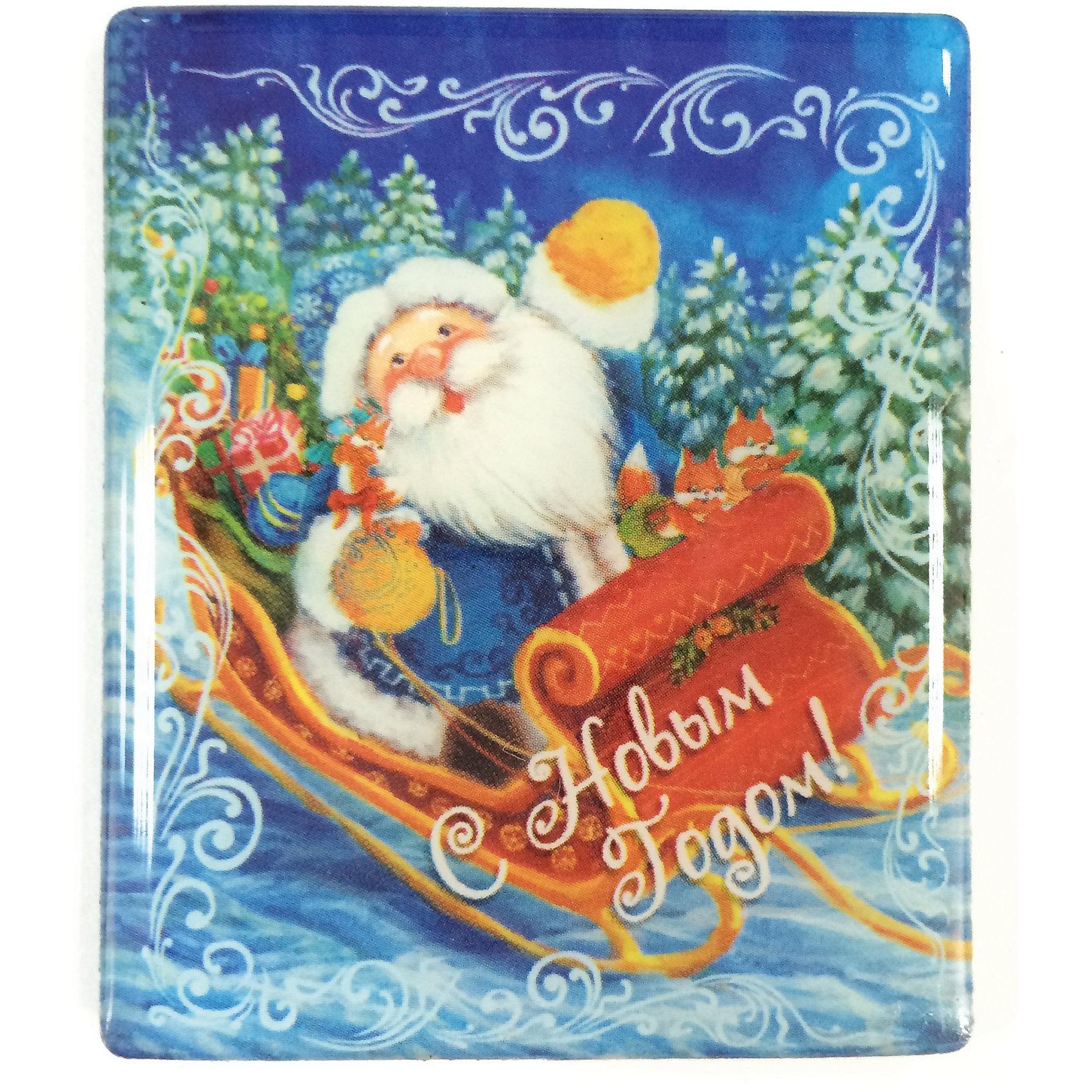 Магнит Дед Мороз в саняхМагнит Дед Мороз в санях, Феникс-Презент, добавит праздничности в Ваш новогодний интерьер и поднимет настроение. Магнит прямоугольной формы украшен красочным изображением Дела Мороза, везущего в санях новогодние подарки. <br><br>Дополнительная информация:<br><br>- Материал магнита: агломерированный феррит.<br>- Размер магнита: 6 х 5 см.<br><br>Магнит Дед Мороз в санях, Феникс-Презент, можно купить в нашем интернет-магазине.<br><br>Ширина мм: 100<br>Глубина мм: 100<br>Высота мм: 100<br>Вес г: 100<br>Возраст от месяцев: 36<br>Возраст до месяцев: 2147483647<br>Пол: Унисекс<br>Возраст: Детский<br>SKU: 4276543
