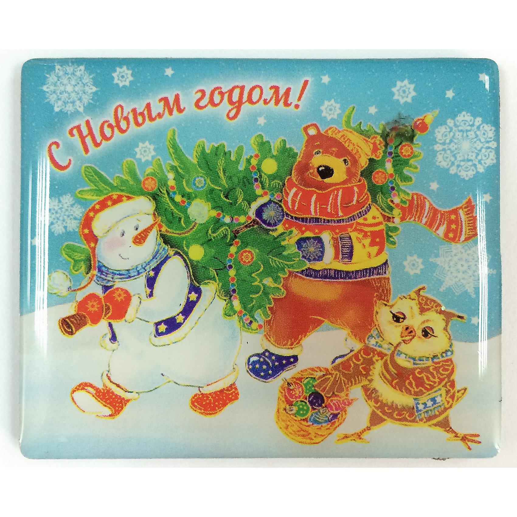 Магнит Снеговик и звериМагнит Снеговик и звери, Феникс-Презент, добавит праздничности в Ваш новогодний интерьер и поднимет настроение. Магнит прямоугольной формы украшен красочными изображениями веселого снеговика с новогодней елкой и очаровательными лесными зверюшками. <br><br>Дополнительная информация:<br><br>- Материал магнита: агломерированный феррит.<br>- Размер магнита: 6 х 5 см.<br><br>Магнит Снеговик и звери, Феникс-Презент, можно купить в нашем интернет-магазине.<br><br>Ширина мм: 70<br>Глубина мм: 70<br>Высота мм: 10<br>Вес г: 100<br>Возраст от месяцев: 36<br>Возраст до месяцев: 2147483647<br>Пол: Унисекс<br>Возраст: Детский<br>SKU: 4276548