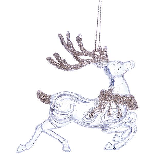 Украшение Сказочные олени в золотомНовинки Новый Год<br>Украшение Сказочные олени в золотом, Феникс-Презент, замечательно дополнит наряд Вашей новогодней елки и поможет создать праздничную волшебную атмосферу. Украшение выполнено в виде прозрачного, словно из кусочка льда, оленя с золотистыми рогами и упряжкой, оно будет чудесно смотреться на елке и радовать детей и взрослых. <br><br>Дополнительная информация:<br><br>- Материал: пластик.<br>- Размер украшения: 10,8 см.<br>- Размер упаковки: 1 x 13 x 22 см.<br>- Вес: 38 гр.<br><br>Украшение Сказочные олени в золотом, Феникс-Презент, можно купить в нашем интернет-магазине.<br><br>Ширина мм: 10<br>Глубина мм: 130<br>Высота мм: 220<br>Вес г: 38<br>Возраст от месяцев: 36<br>Возраст до месяцев: 2147483647<br>Пол: Унисекс<br>Возраст: Детский<br>SKU: 4276554