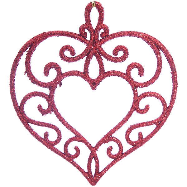 Украшение Красное сердцеЁлочные игрушки<br>Украшение Красное сердце, Феникс-Презент, замечательно дополнит наряд Вашей новогодней елки и поможет создать праздничную волшебную атмосферу. Украшение выполнено в виде красивого ажурного сердечка с растительным орнаментом и декорировано блестками, оно будет чудесно смотреться на елке и радовать детей и взрослых. <br><br>Дополнительная информация:<br><br>- Материал: пластик.<br>- Размер украшения: 10,5 х 9,5 см.<br>- Вес: 15 гр.<br><br>Украшение Красное сердце, Феникс-Презент, можно купить в нашем интернет-магазине.<br>Ширина мм: 1; Глубина мм: 100; Высота мм: 110; Вес г: 15; Возраст от месяцев: 36; Возраст до месяцев: 2147483647; Пол: Унисекс; Возраст: Детский; SKU: 4276561;
