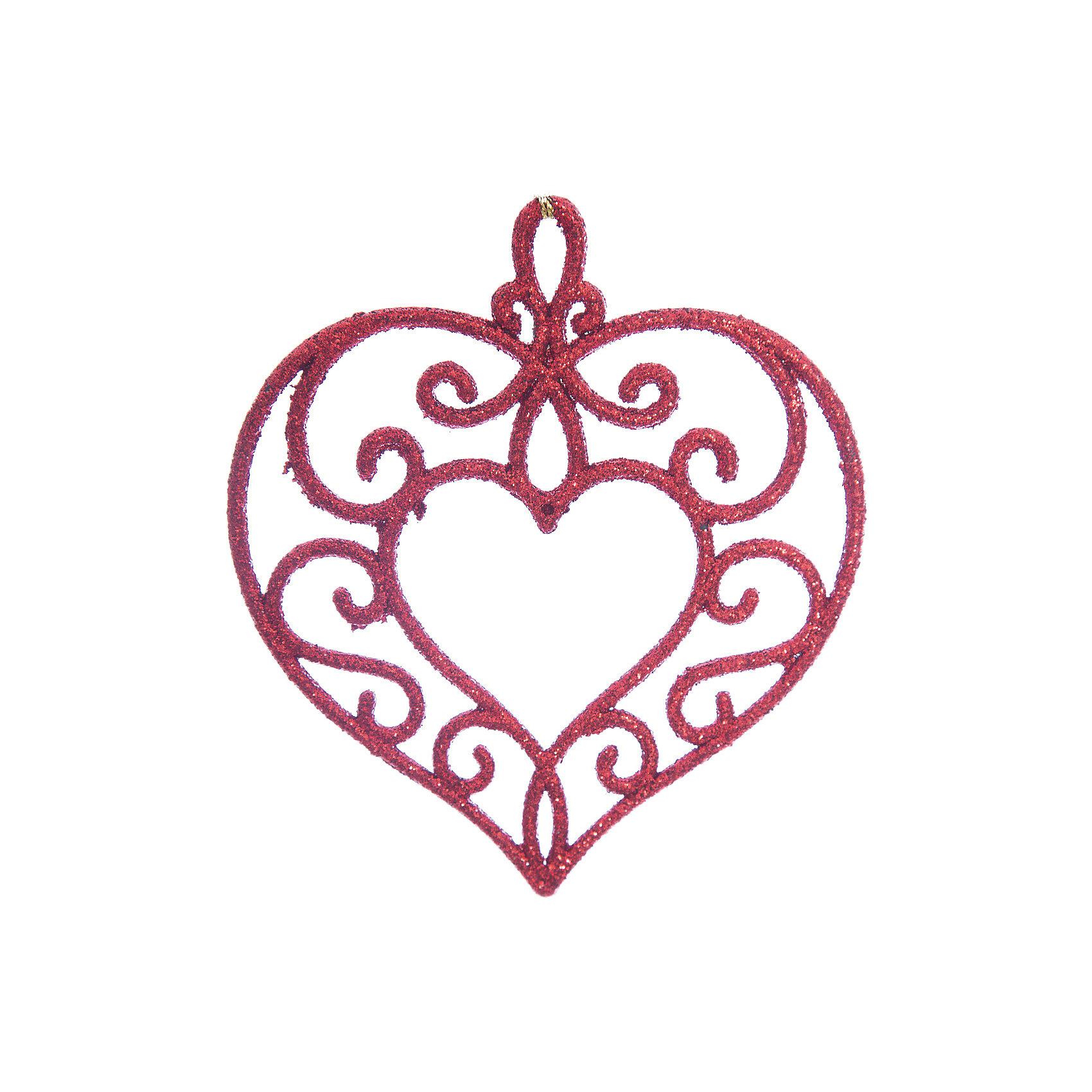 Украшение Красное сердцеНовинки Новый Год<br>Украшение Красное сердце, Феникс-Презент, замечательно дополнит наряд Вашей новогодней елки и поможет создать праздничную волшебную атмосферу. Украшение выполнено в виде красивого ажурного сердечка с растительным орнаментом и декорировано блестками, оно будет чудесно смотреться на елке и радовать детей и взрослых. <br><br>Дополнительная информация:<br><br>- Материал: пластик.<br>- Размер украшения: 10,5 х 9,5 см.<br>- Вес: 15 гр.<br><br>Украшение Красное сердце, Феникс-Презент, можно купить в нашем интернет-магазине.<br><br>Ширина мм: 1<br>Глубина мм: 100<br>Высота мм: 110<br>Вес г: 15<br>Возраст от месяцев: 36<br>Возраст до месяцев: 2147483647<br>Пол: Унисекс<br>Возраст: Детский<br>SKU: 4276561