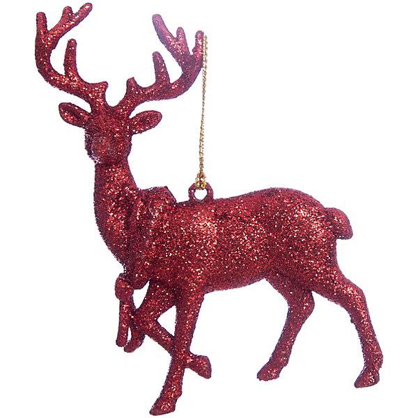 Украшение Красный оленьЁлочные игрушки<br>Украшение Красный олень, Феникс-Презент, замечательно дополнит наряд Вашей новогодней елки и поможет создать праздничную волшебную атмосферу. Украшение выполнено в виде фигурки оленя с красивыми ветвистыми рогами и декорировано блестками, оно будет чудесно смотреться на елке и радовать детей и взрослых. <br><br>Дополнительная информация:<br><br>- Материал: пластик.<br>- Размер украшения: 11,5 х 11,5 см.<br>- Вес: 46 гр.<br><br>Украшение Красный олень, Феникс-Презент, можно купить в нашем интернет-магазине.<br>Ширина мм: 1; Глубина мм: 120; Высота мм: 120; Вес г: 46; Возраст от месяцев: 36; Возраст до месяцев: 2147483647; Пол: Унисекс; Возраст: Детский; SKU: 4276563;