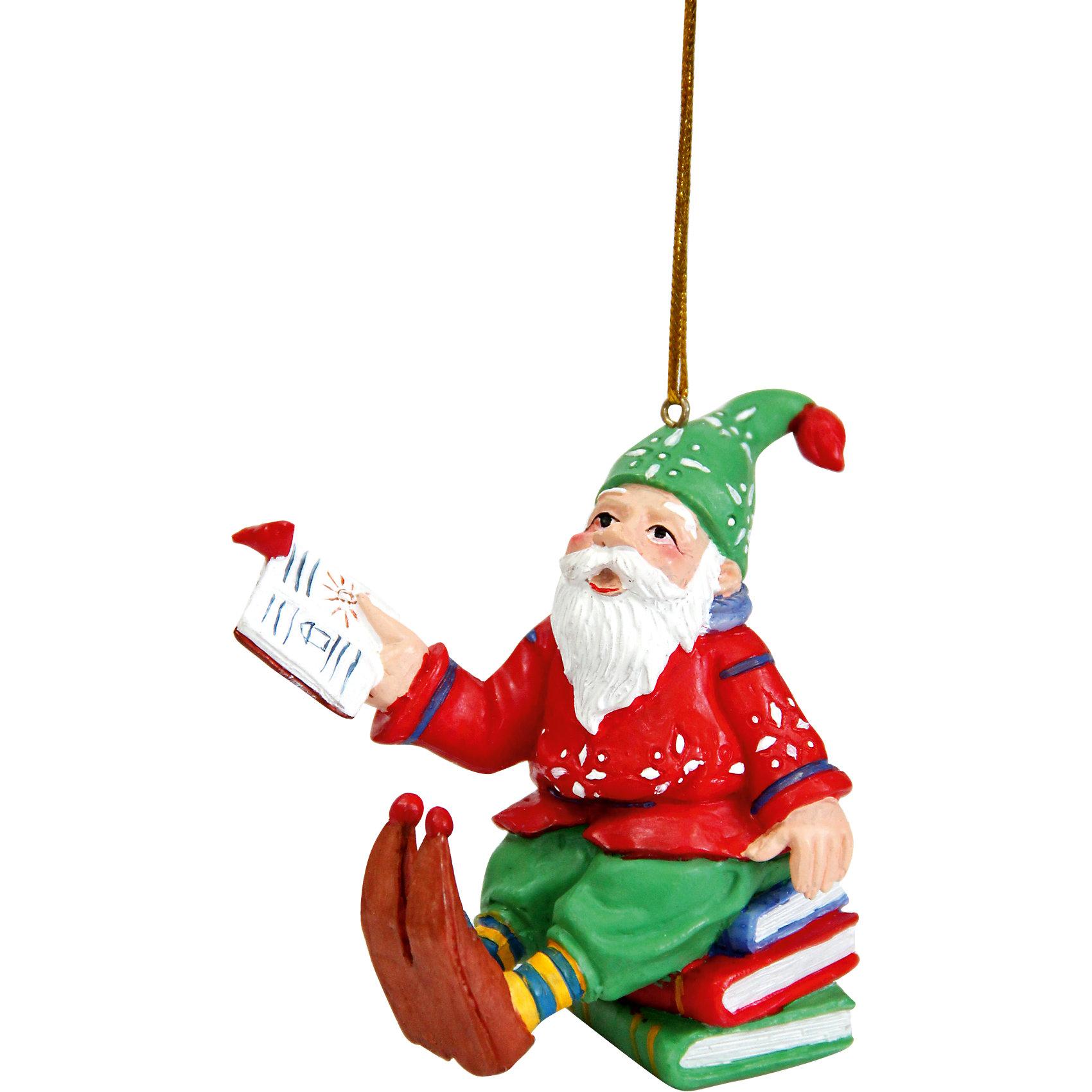 Украшение Ученый гномУкрашение Ученый гном, Феникс-Презент, замечательно украсит Вашу новогоднюю елку или интерьер и создаст праздничное новогоднее настроение. Украшение выполнено в виде забавного гномика, сидящего на стопке книг. Имеется специальная петелька, за которую игрушку можно повесить в любом понравившемся Вам месте.<br><br>Дополнительная информация:<br><br>- Материал: полирезина.<br>- Размер фигурки: 7,8 х 4,3 х 7 см.<br>- Размер упаковки: 9 х 6 х 8 см.<br>- Вес: 100 гр. <br><br>Украшение Ученый гном, Феникс-Презент, можно купить в нашем интернет-магазине.<br><br>Ширина мм: 90<br>Глубина мм: 60<br>Высота мм: 80<br>Вес г: 100<br>Возраст от месяцев: 36<br>Возраст до месяцев: 2147483647<br>Пол: Унисекс<br>Возраст: Детский<br>SKU: 4276564