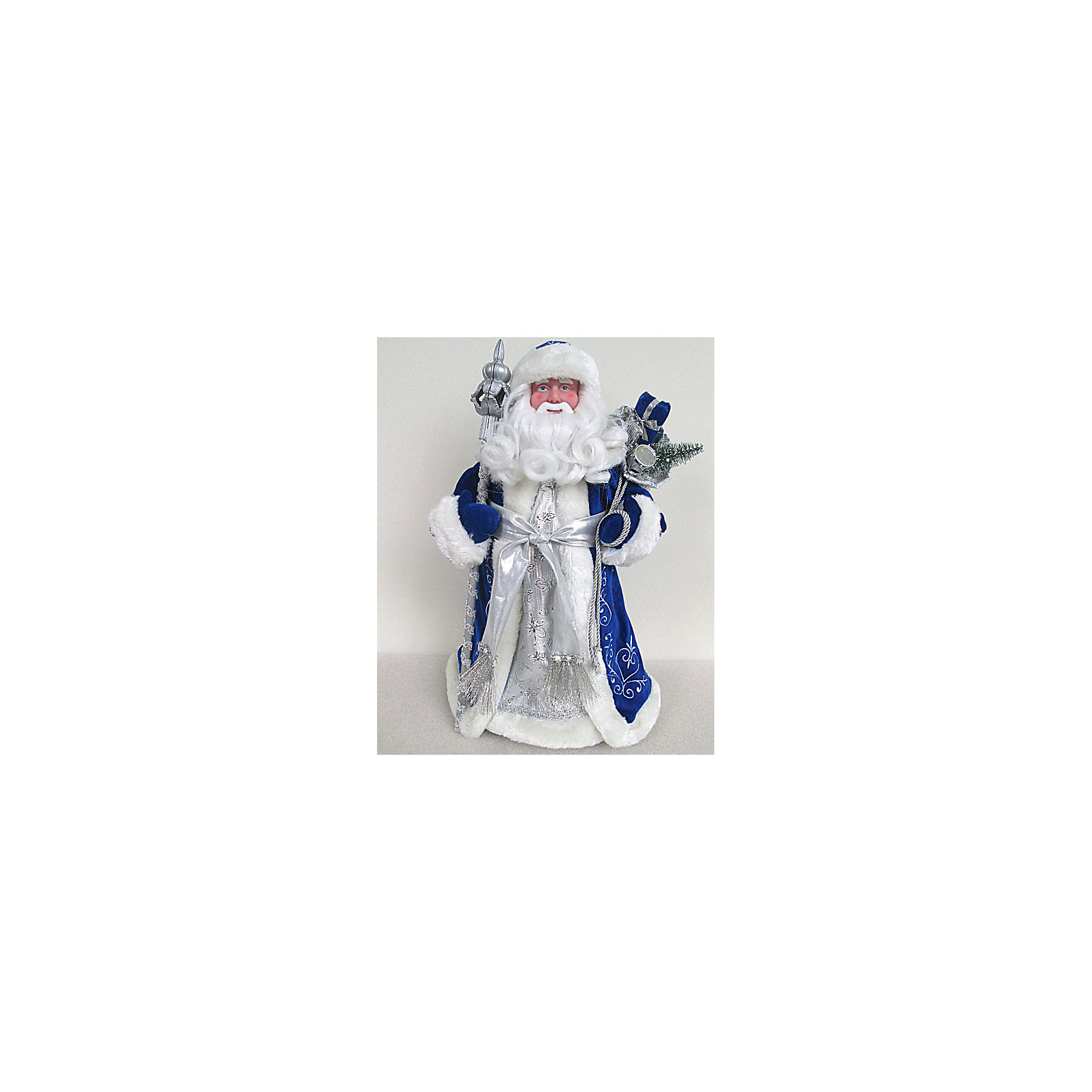Фигурка Дед Мороз в синем костюмеФигурка Дед Мороз в синем костюме, Феникс-Презент, станет замечательным украшением Вашего новогоднего интерьера и приятным сувениром для родных и друзей. Невозможно представить себе новогодние праздники без Деда Мороз, добрый дедушка с длинной белой бородой одет в традиционный кафтан синего цвета с меховой отделкой и серебристым поясом, в руках он держит свой волшебный посох. Поставленная под елку, фигурка Деда Мороза порадует и взрослых и детей и поможет создать волшебную атмосферу новогодних праздников.<br><br>Дополнительная информация:<br><br>- Материал: пластик, текстиль. <br>- Размер фигурки: 30 см.<br>- Размер упаковки: 32 x 15 x 15 см.<br><br>Фигурку Дед Мороз в синем костюме, Феникс-Презент, можно купить в нашем интернет-магазине.<br><br>Ширина мм: 320<br>Глубина мм: 150<br>Высота мм: 150<br>Вес г: 100<br>Возраст от месяцев: 36<br>Возраст до месяцев: 2147483647<br>Пол: Унисекс<br>Возраст: Детский<br>SKU: 4276567