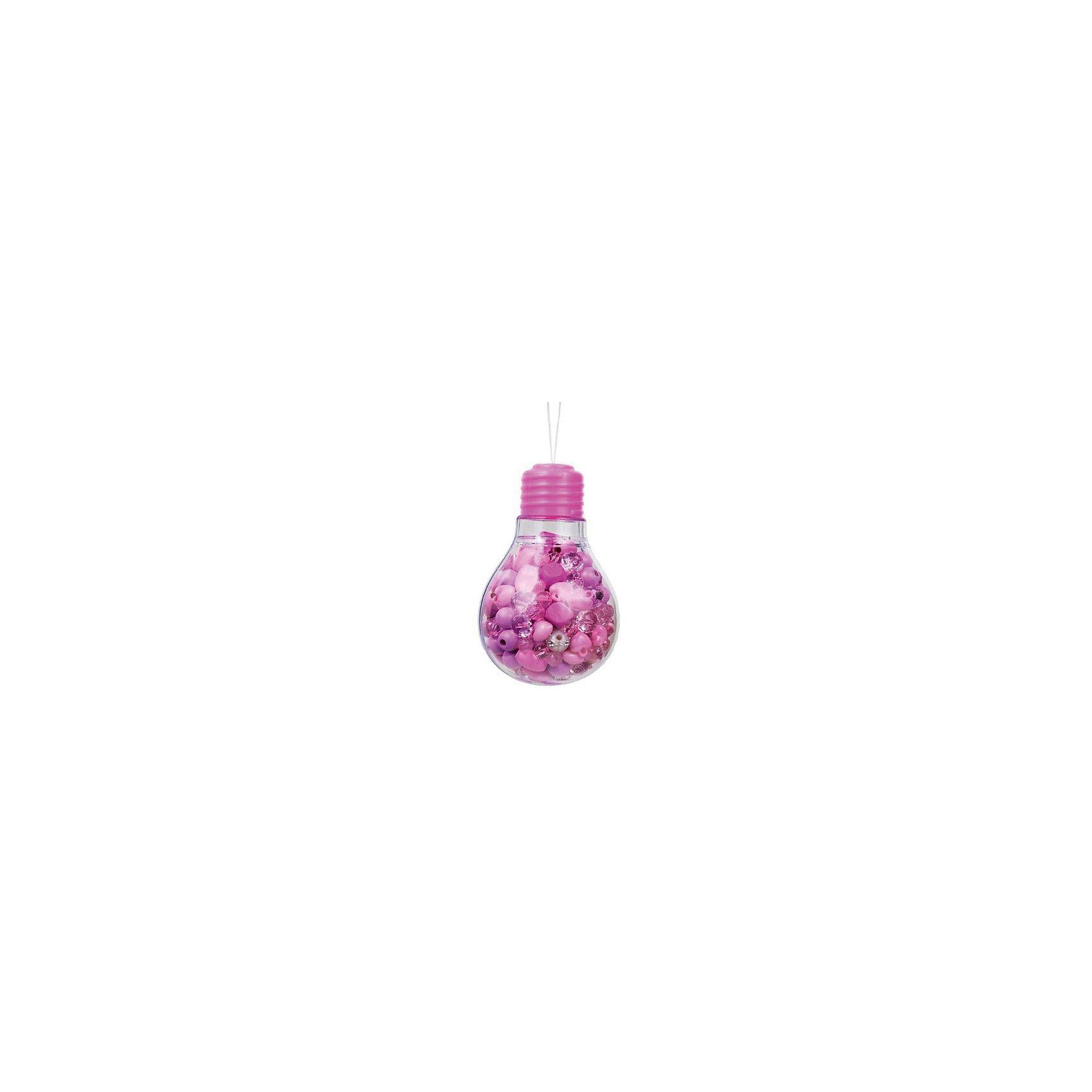 Набор бусин Пурпурная лампочкаВ Наборе бусин Пурпурная лампочка есть все самое необходимое для создания разнообразных бус, колье или браслетов: яркие бусинки и хлопковые веревочки. Разные фактуры и формы бусин научат комбинировать и подходить к процессу творчески, проявлять дизайнерские навыки. Все элементы для будущих колье и браслетов подобраны так, что подойдут к любому наряду. Маленькой моднице остается только менять праздничные платья!<br><br>Комплектация: деревянные и пластиковые бусины, хлопковые веревочки, инструкция по сборке<br><br>Дополнительная информация:<br>-Цвет: фиолетовый, розовый<br>-Оригинальная упаковка в виде лампочки<br>-Развивает: воображение, творческие способности, усидчивость, мелкую моторику, координацию движений, комбинаторные способности, аккуратность<br>-Вес в упаковке: 260 г<br>-Размеры в упаковке: 8х8х12 см<br>-Материалы: дерево, текстиль, пластик<br><br>Замечательный Набор бусин Пурпурная лампочка обязательно понравится Вашей девочке, ведь она самостоятельно сможет создавать эксклюзивные украшения, чтобы сделать свой образ еще более красивым и модным! <br><br>Набор бусин Пурпурная лампочка можно купить в нашем магазине.<br><br>Ширина мм: 80<br>Глубина мм: 80<br>Высота мм: 120<br>Вес г: 260<br>Возраст от месяцев: 48<br>Возраст до месяцев: 108<br>Пол: Женский<br>Возраст: Детский<br>SKU: 4278030