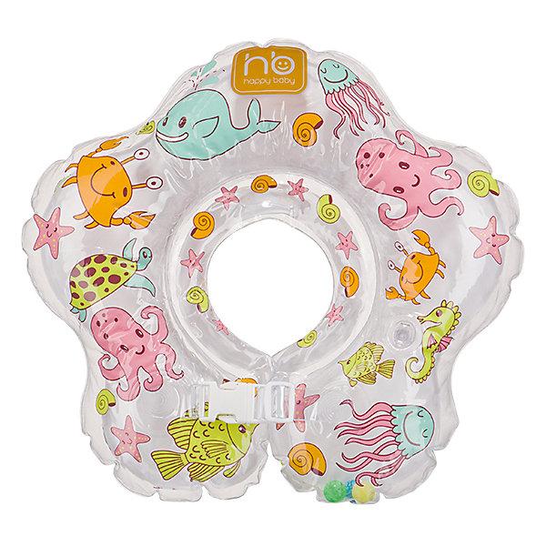 Круг для плавания Aquafun, Happy BabyКруги для купания малыша<br>Надувной Круг для плавания Aquafun (Аквафан), Happy Baby (Хэппи Бэйби) отличается возможностью использовать его с самого рождения, когда ребенок еще не держит самостоятельно головку. Благодаря двум раздельным контурам (верхний и нижний), надувающимся отдельно, создается дополнительная безопасность во время купания, а голова ребенка всегда будет над поверхностью воды.<br><br>Характеристики:<br>-Предназначен для купания детей 3-24 месяцев (до 15 кг)<br>-Можно использовать в ванной, в детском бассейне, в водоемах глубиной до 1 м<br>-Просто одевается и снимается<br>-Имеется вставка для подбородка, которая прочно крепит позицию младенца и препятствует соскальзыванию<br>-2 ручки для контроля за младенцем<br>-Удобные застежки: 1 липучка и 2 из пластмассы<br>-Технология «внутреннего шва» делает контуры изделия мягкими и безопасными<br>-Погремушки внутри круга заинтересуют и развеселят малыша<br><br>Дополнительная информация:<br>-Материалы: ПВХ<br>-Вес в упаковке: 200 г<br>-Размеры в упаковке: 4х15х20 см <br><br>Круг для плавания Aquafun (Аквафан), Happy Baby (Хэппи Бэйби) можно купить в нашем магазине.<br><br>Ширина мм: 40<br>Глубина мм: 150<br>Высота мм: 200<br>Вес г: 200<br>Возраст от месяцев: 3<br>Возраст до месяцев: 24<br>Пол: Унисекс<br>Возраст: Детский<br>SKU: 4278289