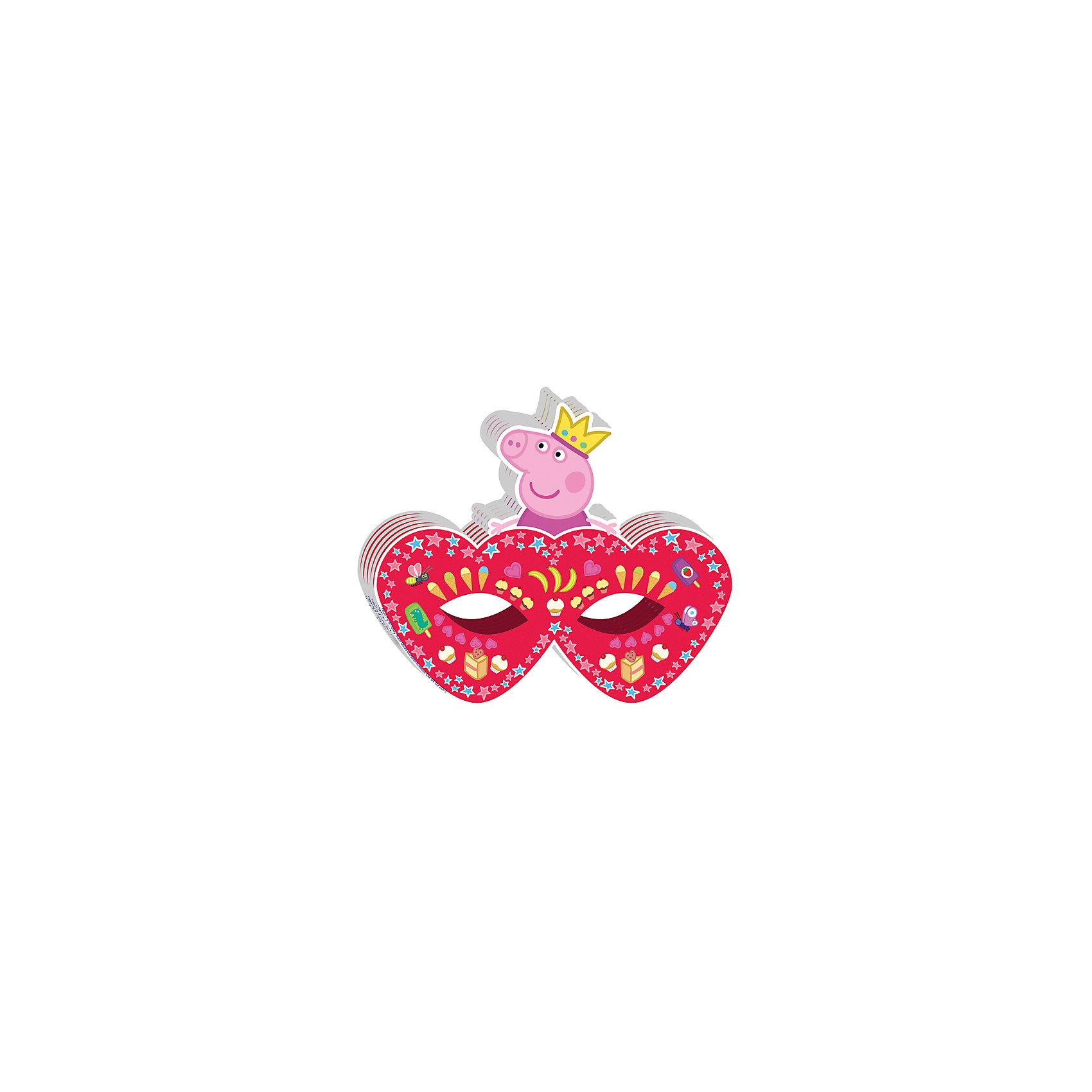 Росмэн Маска Пеппа-принцесса (6 шт) росмэн праздничный колпак пеппа принцесса 6 шт