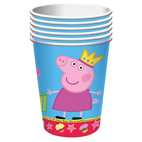 Набор стаканов Пеппа-принцесса (210 мл, 6 шт)Стаканы<br>Набор стаканов Пеппа-принцесса (210 мл, 6 шт) – этот набор замечательно подойдет для детского праздника и поможет красиво сервировать стол.<br>Одноразовые стаканы «Пеппа-принцесса» с ярким, жизнерадостным дизайном стильно украсят праздничный стол и поднимут всем настроение. А на пикнике они просто необходимы! Их практическую пользу невозможно переоценить: они почти невесомы, не могут разбиться, их не надо мыть. Сделанные из плотной бумаги, они абсолютно безопасны и прекрасно удерживают напитки. Из данной серии вы также можете выбрать скатерть, тарелки, язычки, колпаки, дудочки, подарочный набор посуды, приглашение в конверте, гирлянду, свечи, маску и другие товары.<br><br>Дополнительная информация:<br><br>- В наборе: 6 бумажных стаканов объемом 210 мл<br>- Материал: плотная бумага<br>- Размер упаковки: 100 х 100 x 150 мм.<br>- Вес: 80 гр.<br><br>Набор стаканов Пеппа-принцесса (210 мл, 6 шт) можно купить в нашем интернет-магазине.<br><br>Ширина мм: 100<br>Глубина мм: 100<br>Высота мм: 150<br>Вес г: 80<br>Возраст от месяцев: 36<br>Возраст до месяцев: 84<br>Пол: Унисекс<br>Возраст: Детский<br>SKU: 4278311