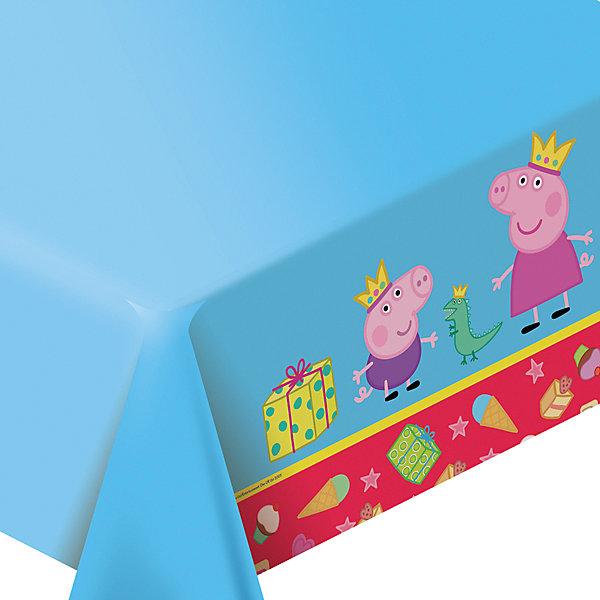 Скатерть Пеппа-принцесса 133*183 смСалфетки и скатерти<br>Скатерть Пеппа-принцесса 133*183 см – это яркая скатерть замечательно подойдет для детского праздника и поможет красиво сервировать стол.<br>Яркая скатерть с веселой героиней мультфильма «Свинка Пеппа» украсит праздничный стол для детей и поднимет настроение всем участникам торжества. Полиэтиленовая скатерть Пеппа-принцесса декорирована ярким принтом. Она поможет сделать детский праздник ярким и запоминающимся. Из данной серии вы также можете выбрать другие товары: тарелки, стаканы, язычки, колпаки, дудочки, подарочный набор посуды, приглашение в конверте, гирлянду, свечи, маску и другие товары.<br><br>Дополнительная информация:<br><br>- Размер: 133х183 см.<br>- Материал: полиэтилен<br>- Размер упаковки: 170 х 170 x 10 мм.<br>- Вес: 80 гр.<br><br>Скатерть Пеппа-принцесса 133*183 см можно купить в нашем интернет-магазине.<br><br>Ширина мм: 200<br>Глубина мм: 300<br>Высота мм: 20<br>Вес г: 80<br>Возраст от месяцев: 36<br>Возраст до месяцев: 84<br>Пол: Унисекс<br>Возраст: Детский<br>SKU: 4278320