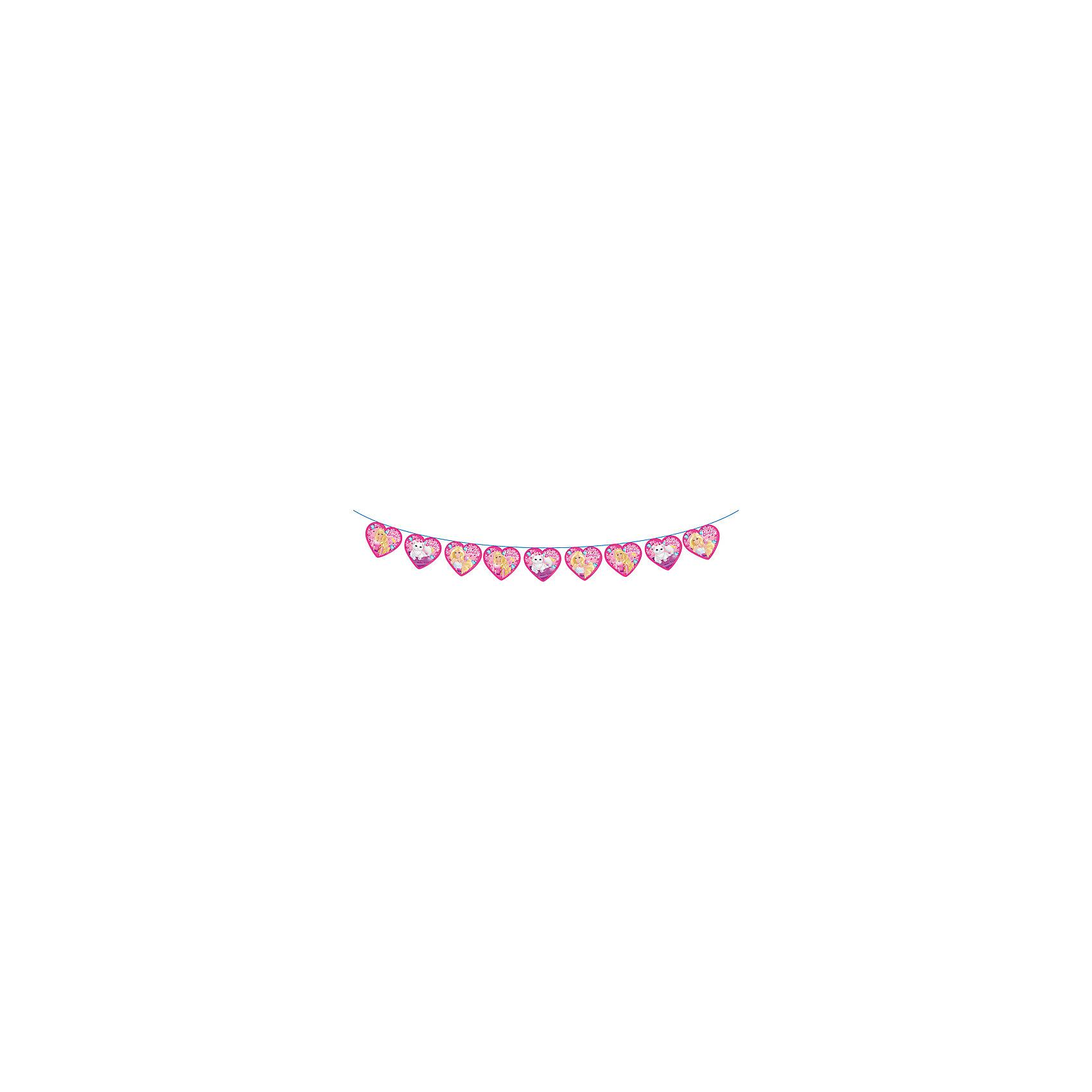 Росмэн Гирлянда-флажки Barbie 3 м росмэн гирлянда c днем рождения 2 3 м миньоны